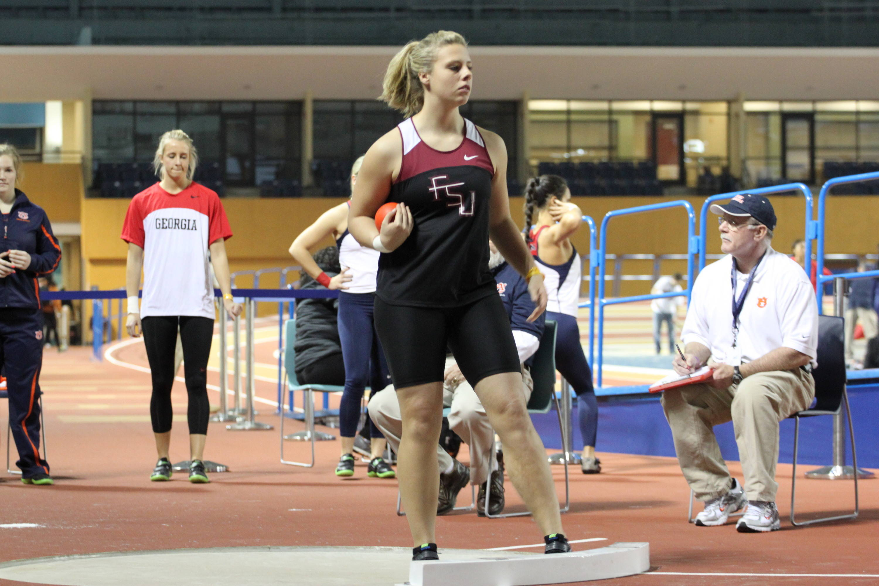 Sophomore Chelsea Whalen posted a career-best in the shot put with a throw of 15.02m (49-3 1/2), which was good for sixth place.