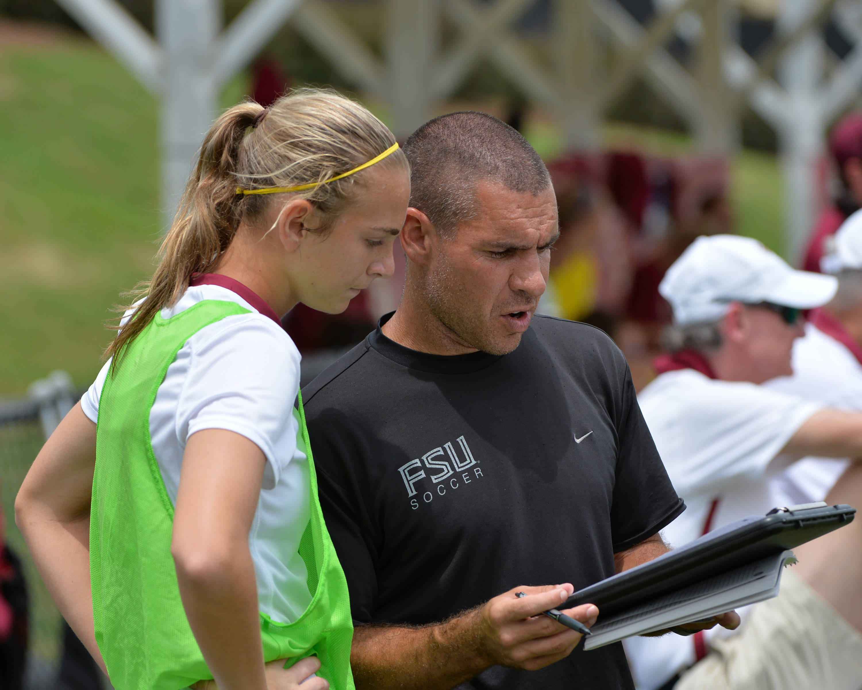 Anna McClung and assistant coach Mike Bristol
