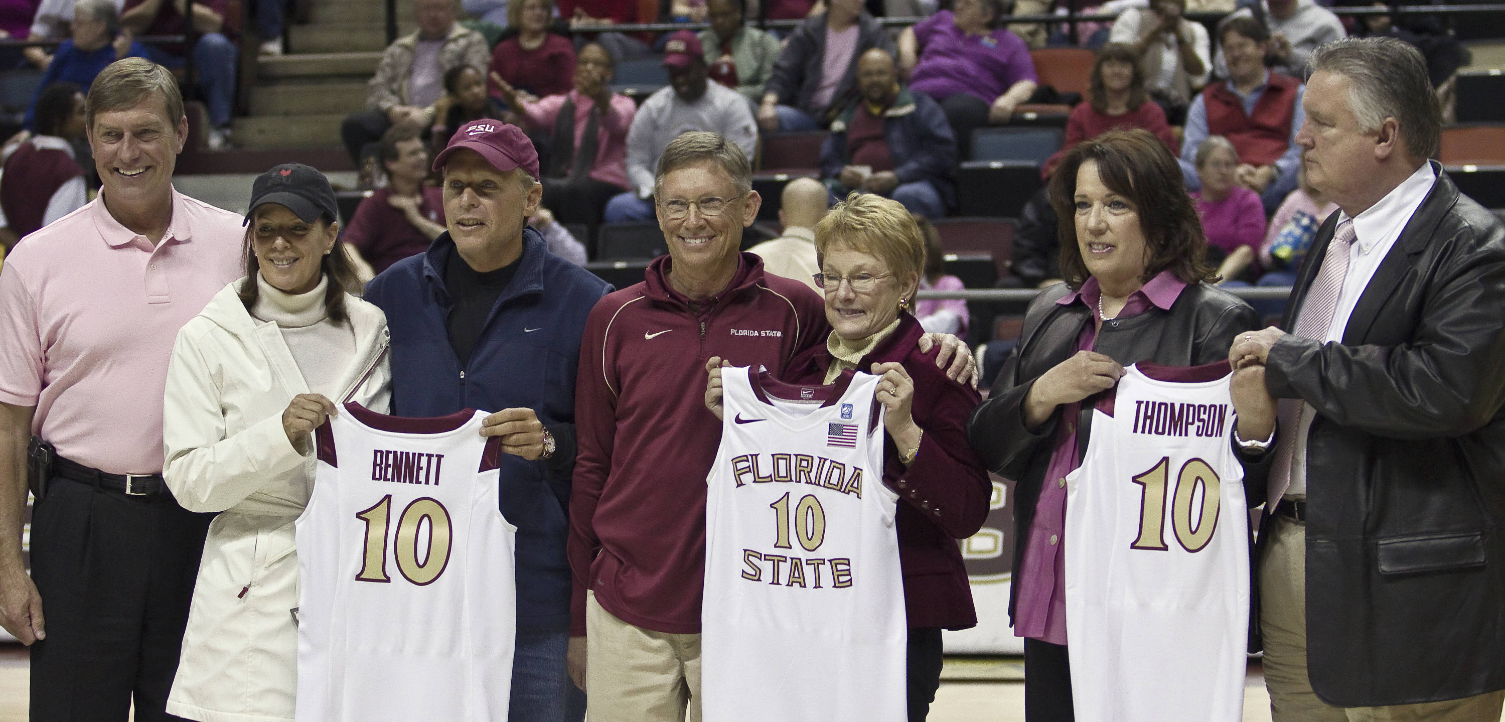 FSU vs Georgia Tech- 02//11/11 - Honored FSU Women's Basketball Donors, FSU Director of Athletics Randy Spetman