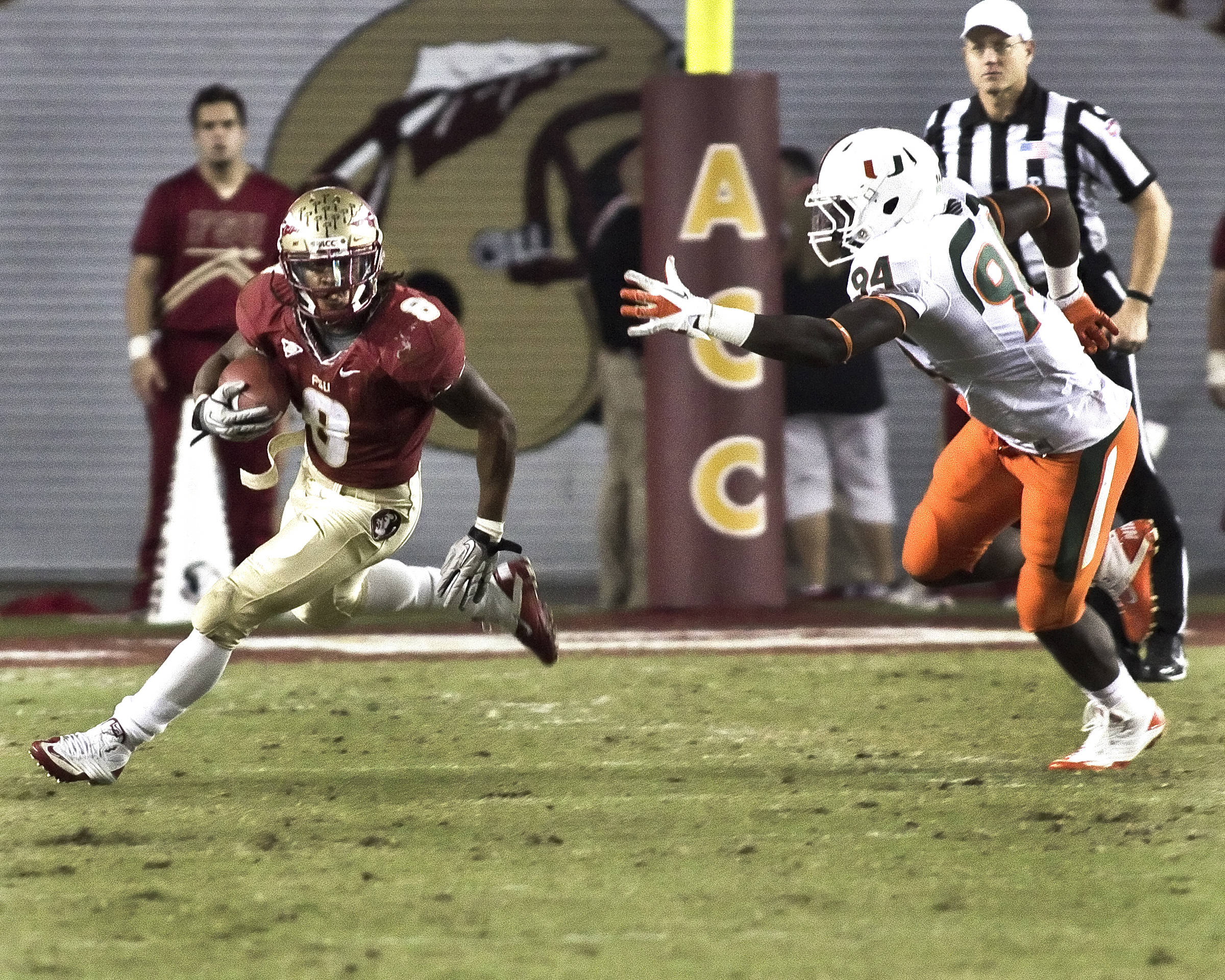 Devonta Freeman (8), FSU vs Miami, 11/12/2011