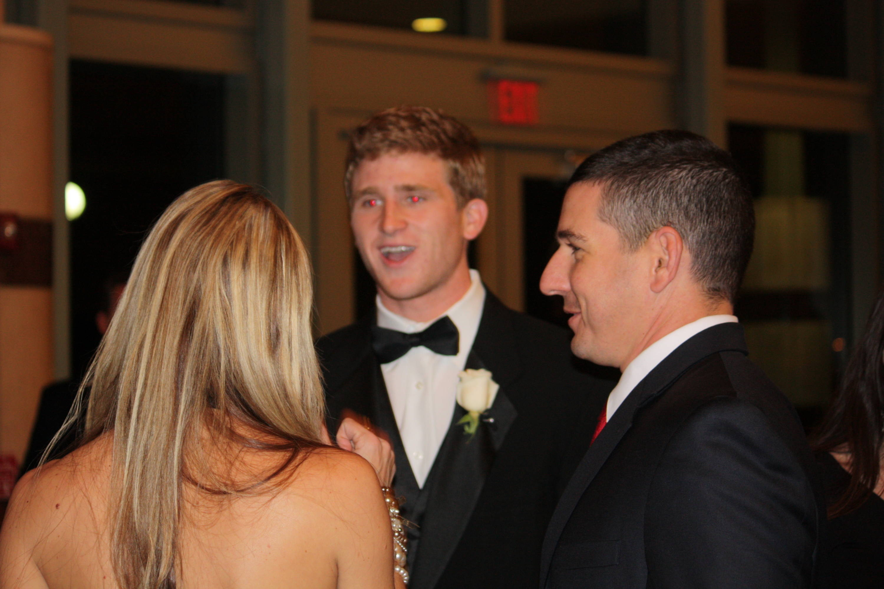 Tuesday night's Black Tie affair gave Hopkins and others a chance to mingle with fans and supporters.