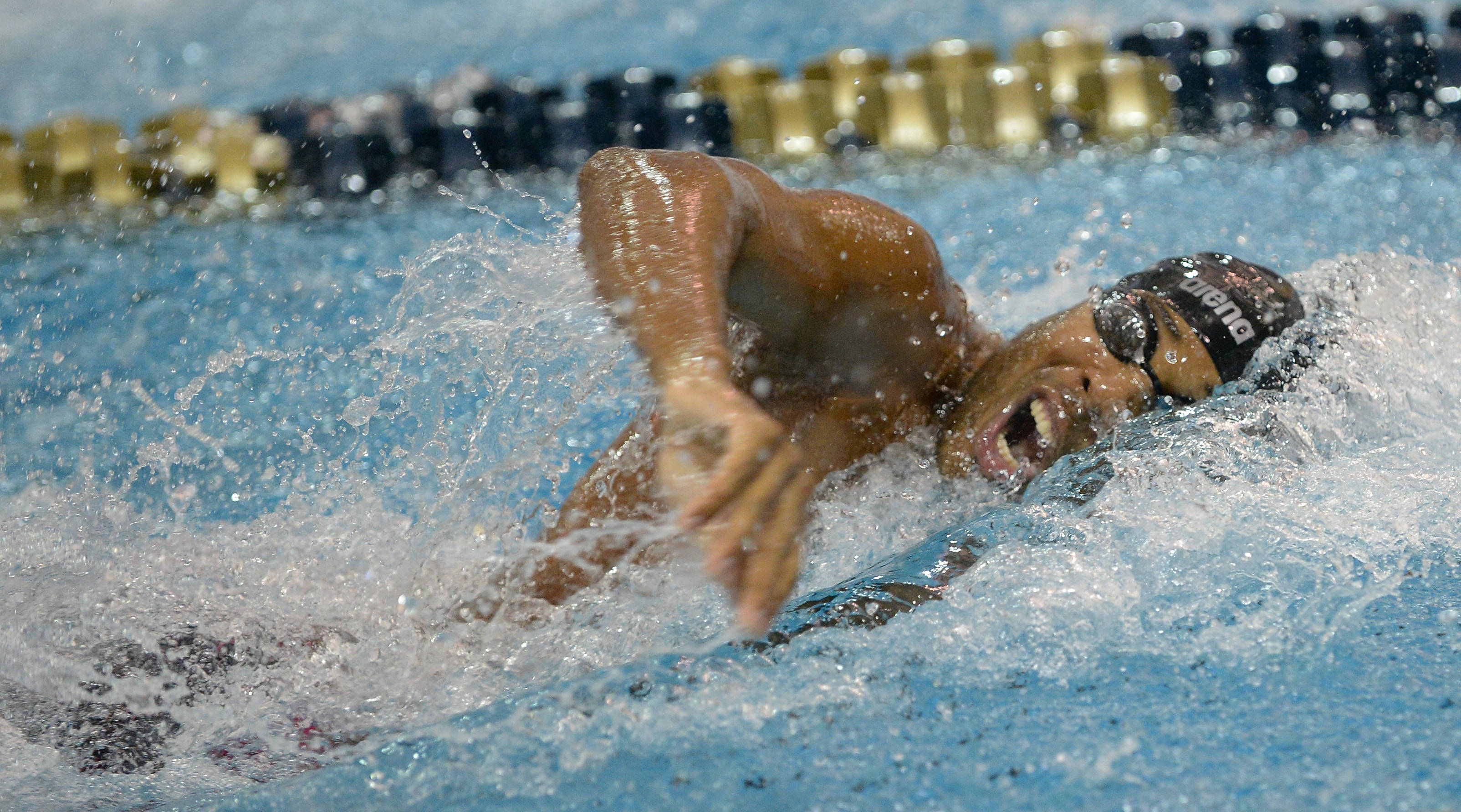 Cadell Lyons in the 400 free relay - Mitch White