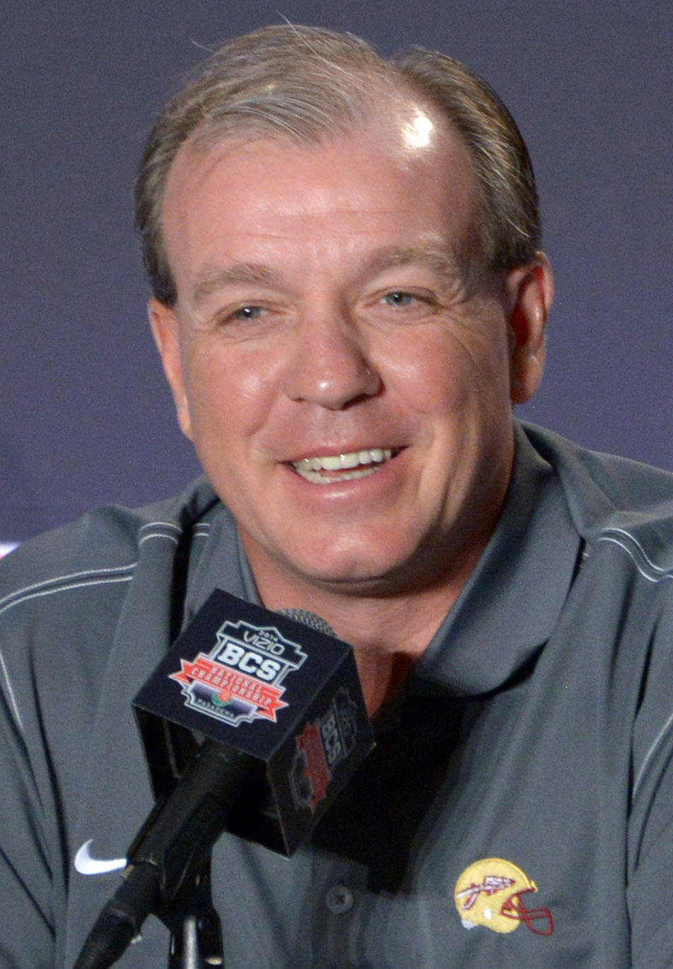 Florida State Seminoles coach Jimbo Fisher at 2014 BCS National Championship press conference at Newport Beach Marriott. Mandatory Credit: Kirby Lee-USA TODAY Sports