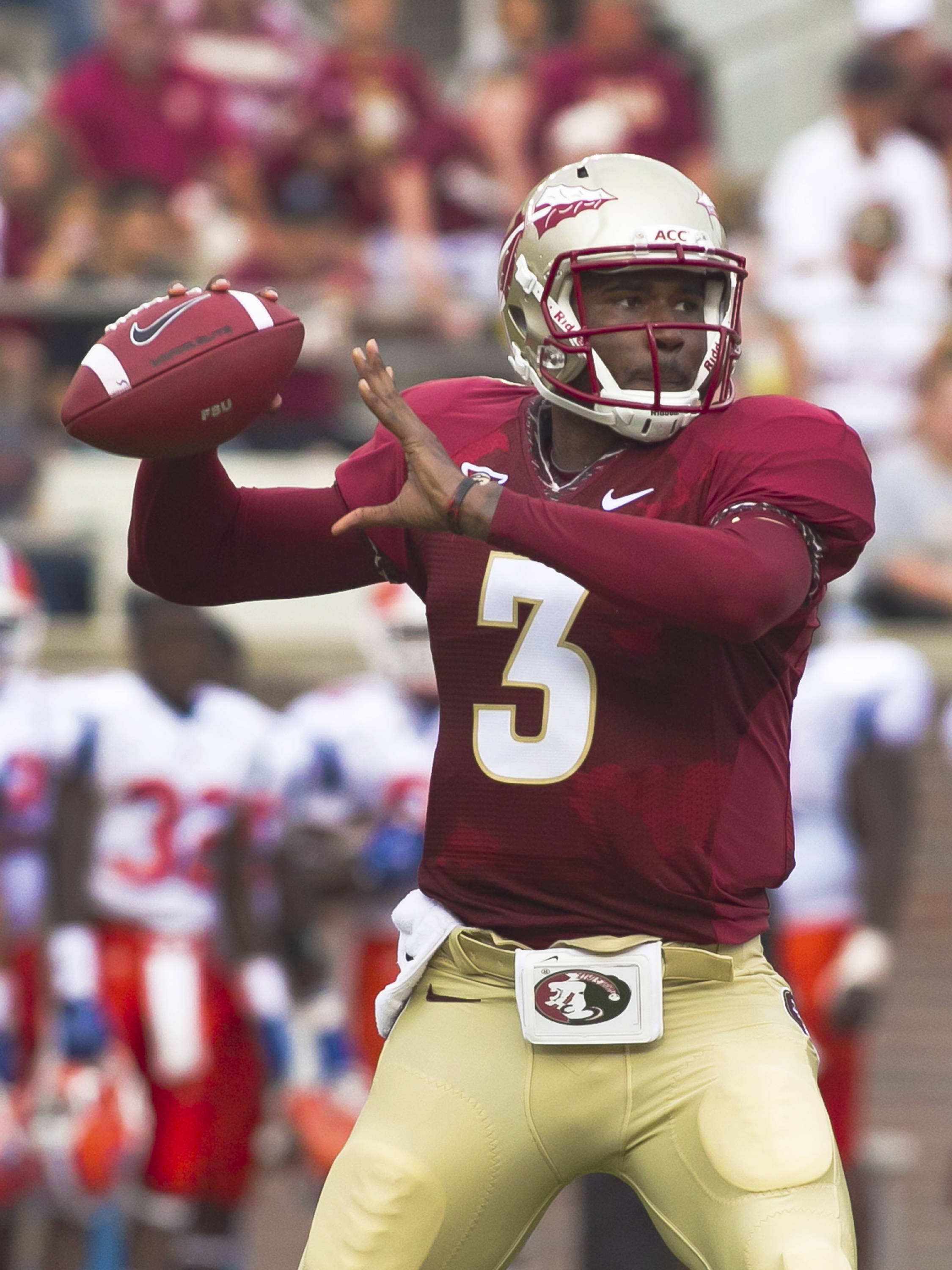 EJ Manuel (3),  FSU vs Savannah State, 9/8/12 (Photo by Steve Musco)