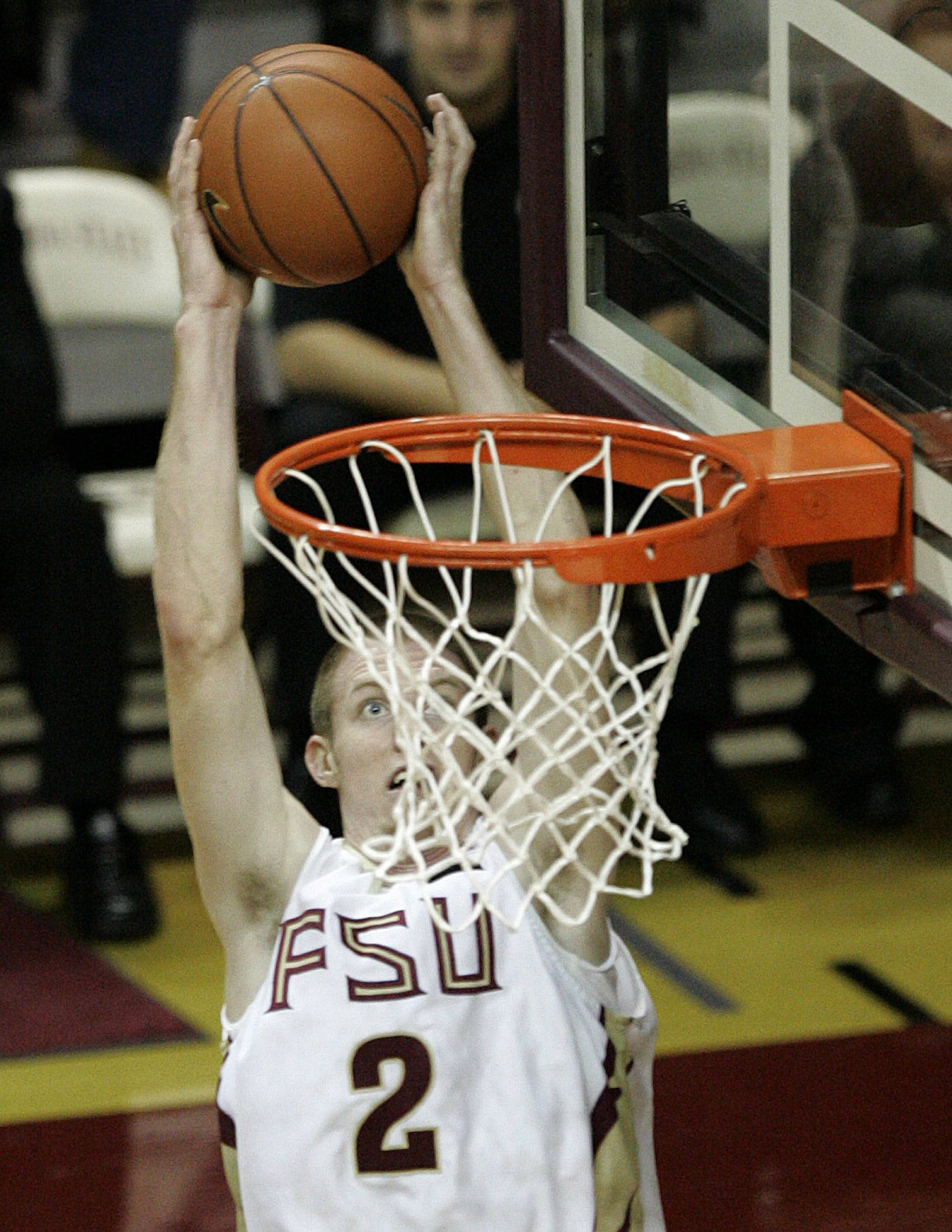 Florida State's Jordan Demercy dunks against Maine in the second half.