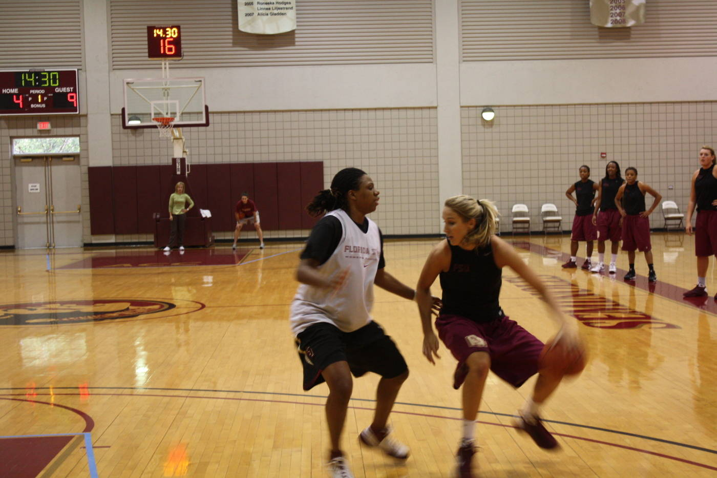 Kayli Keough and former Seminole Tanae Davis-Cain