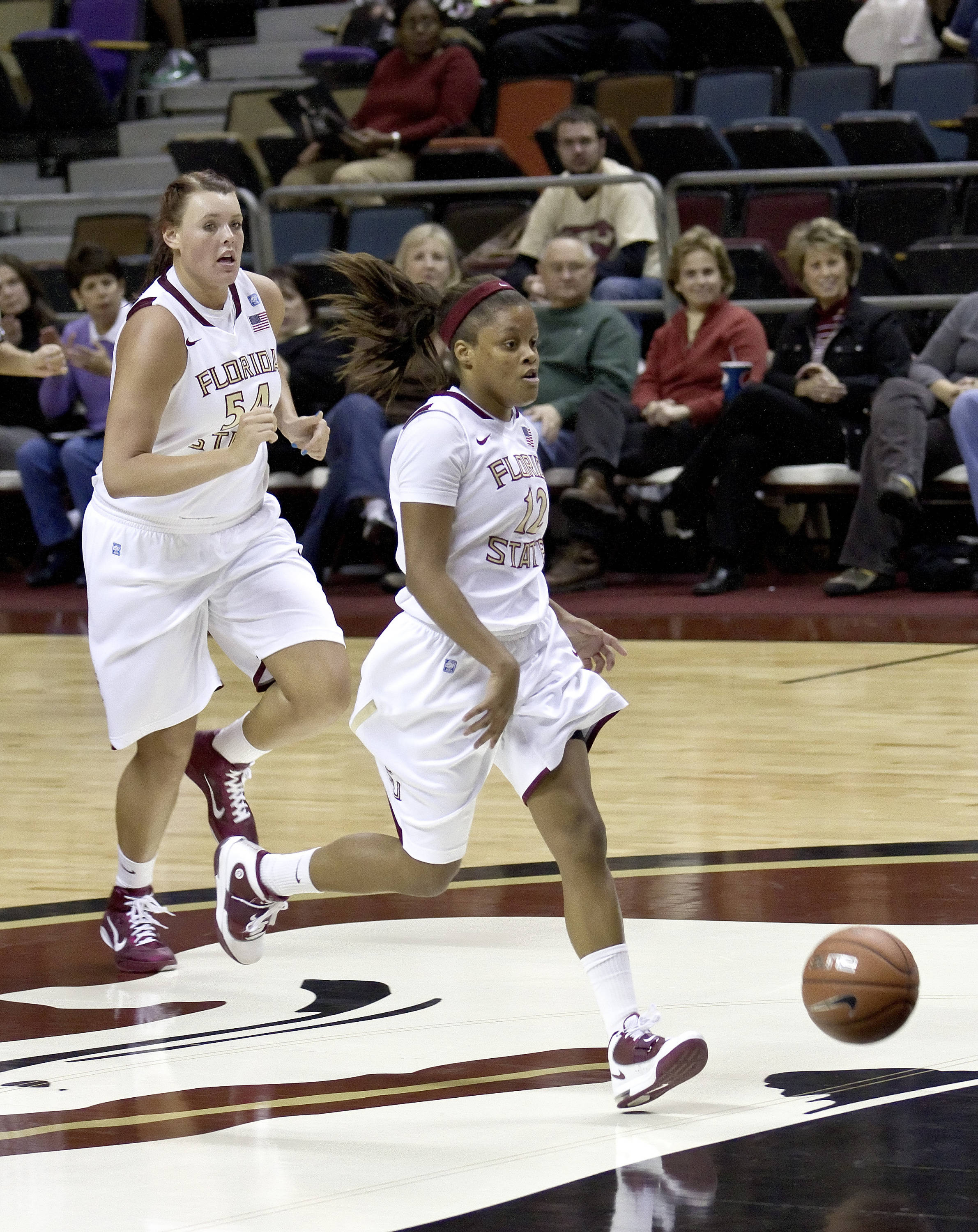 FSU vs UCF - 12/15/10 - Courtney Ward (12), Cierra Bravard (54)#$%^Photo by Steve Musco