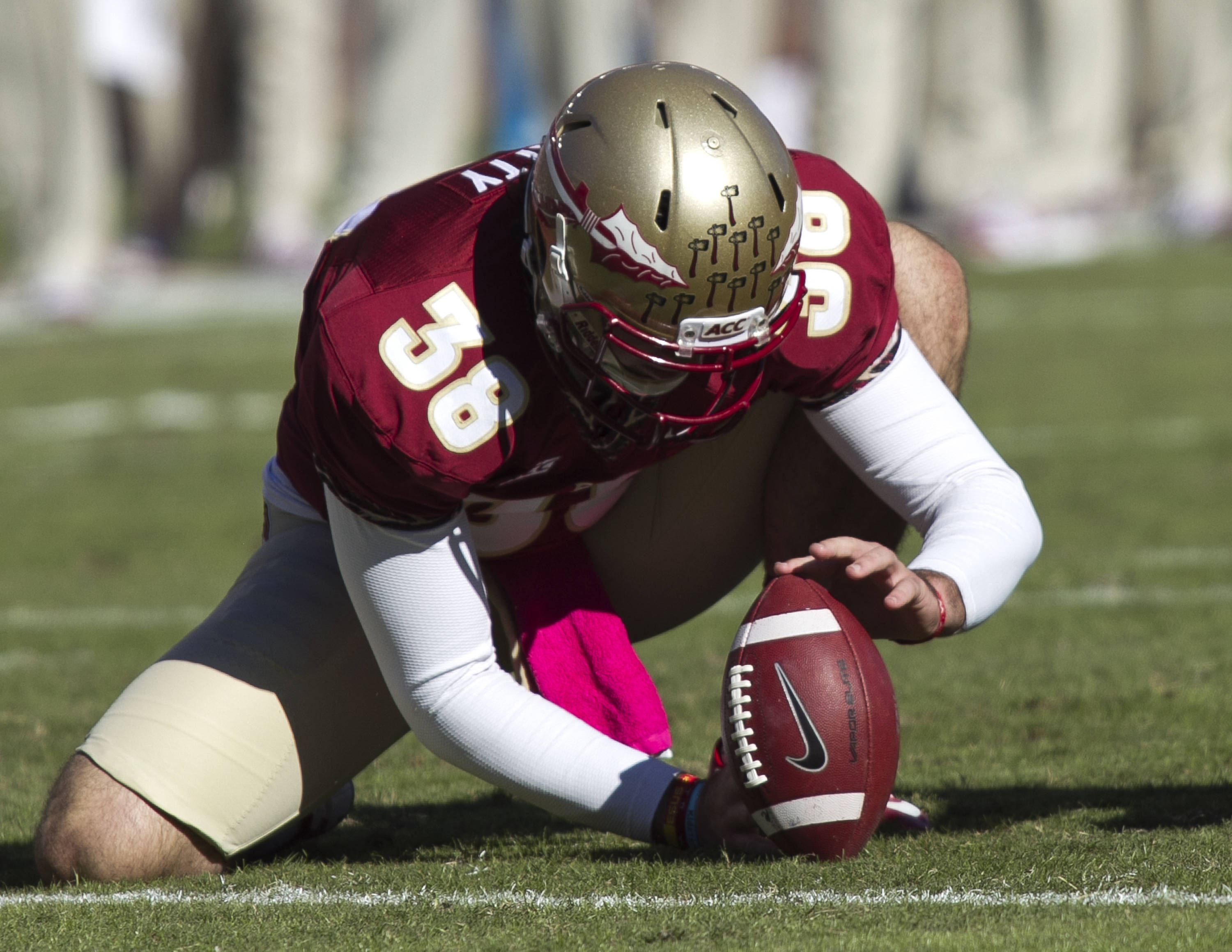 Cason Beatty (38), FSU vs NC State,  10-26-13, (Photo by Steve Musco)