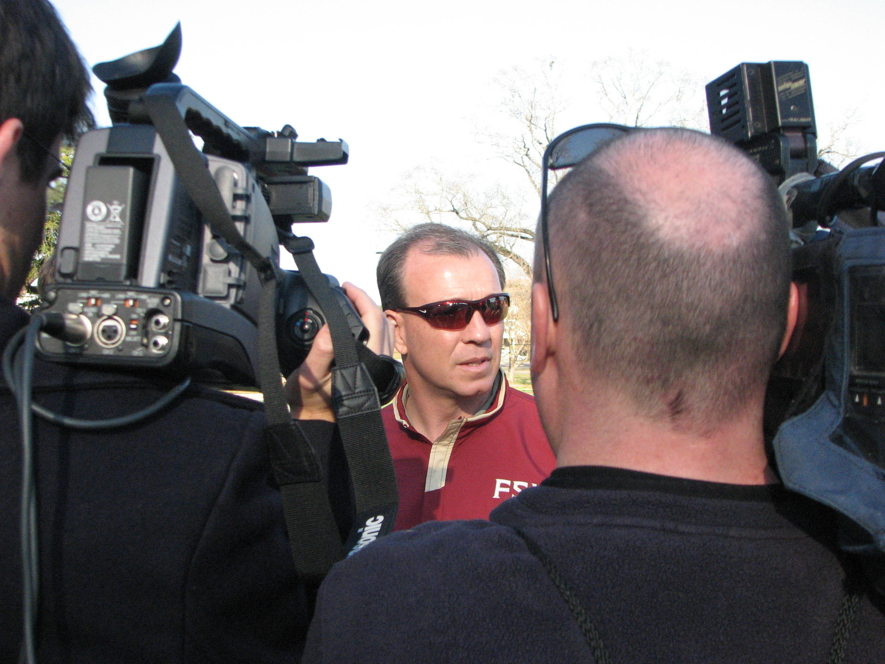 Head Coach Jimbo Fisher addresses the media following 4th Quarter Drills