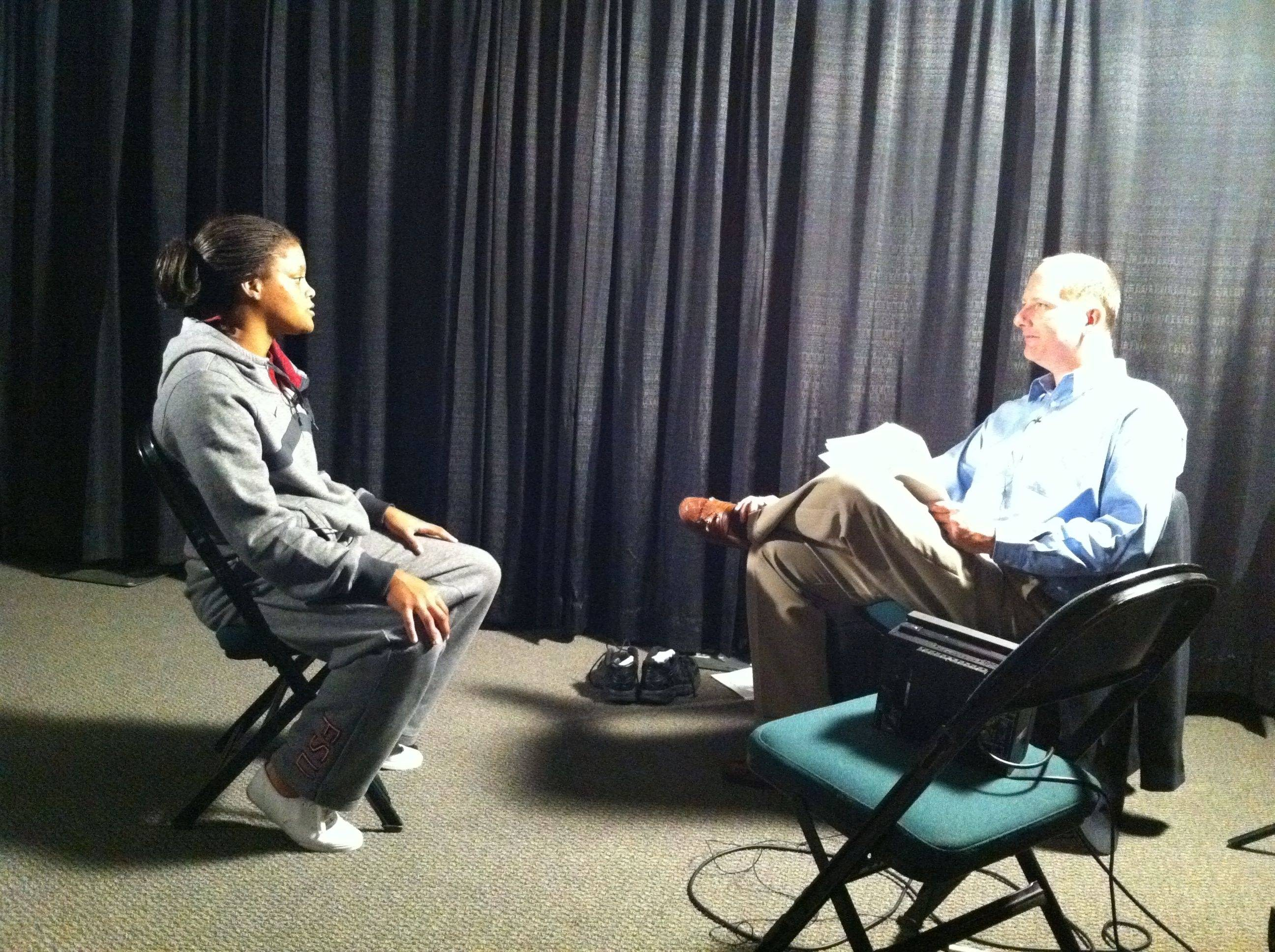 Courtney Ward capped off the day with one final interview.