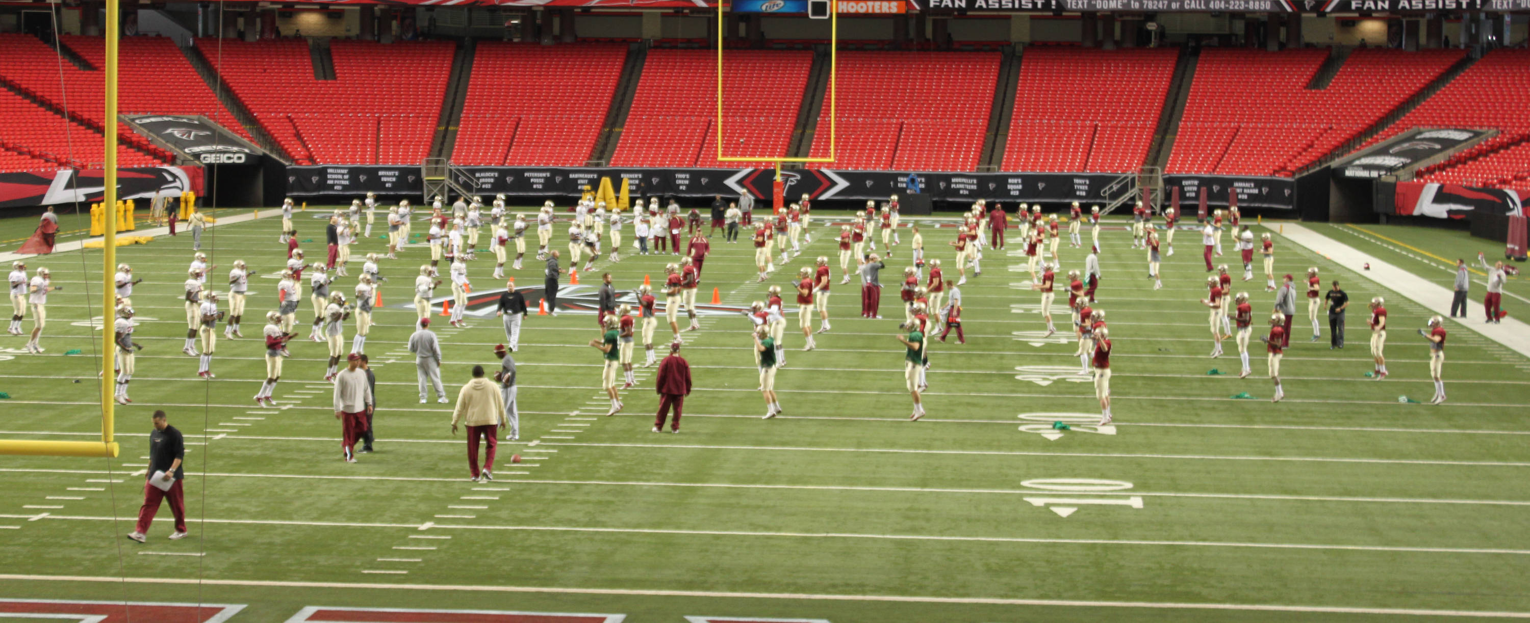 Chick-fil-A Bowl Practice One at the Georgia Dome.