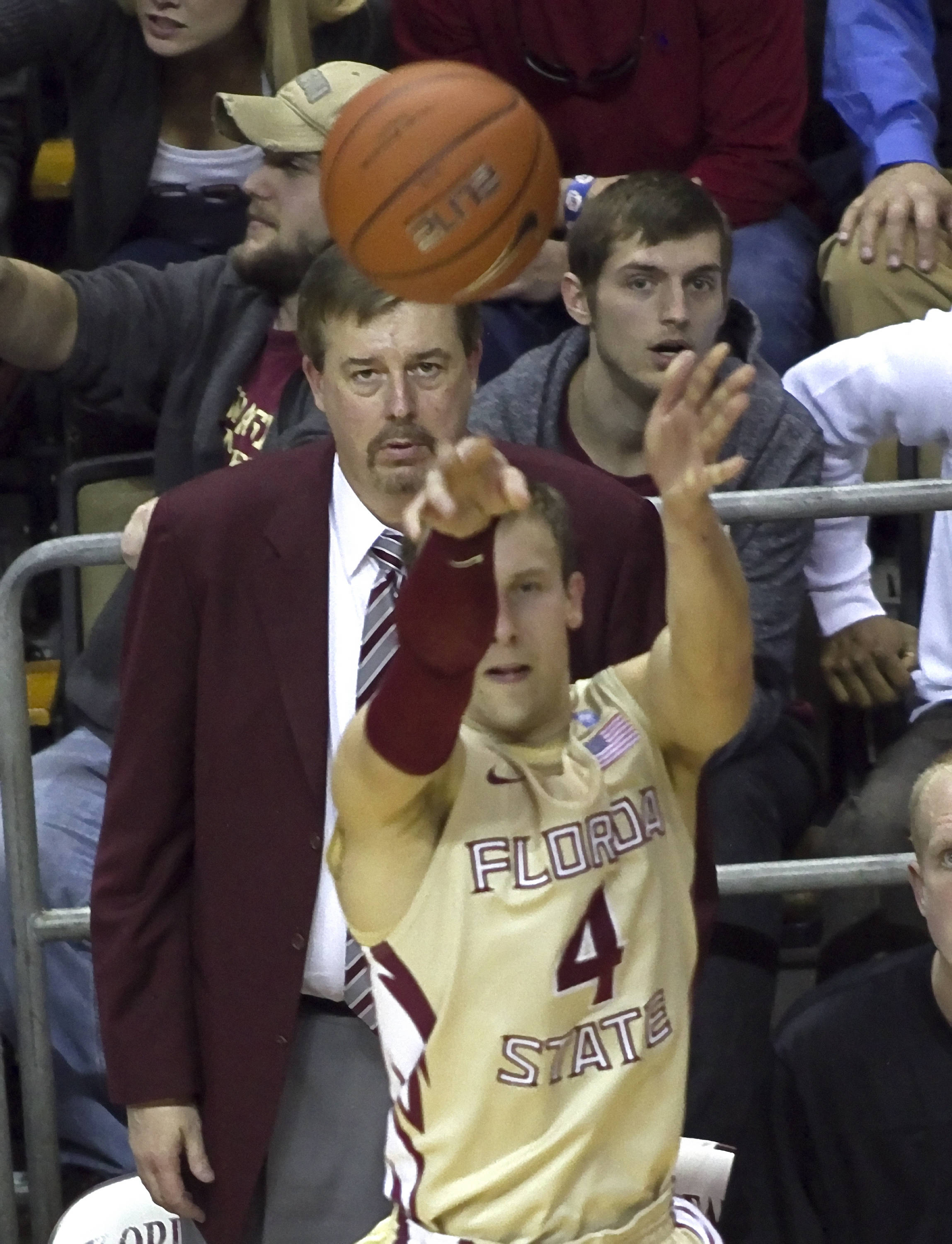 Coach Stan Jones, Devidas Dulkys (4), FSU vs NC,  01/14/2012