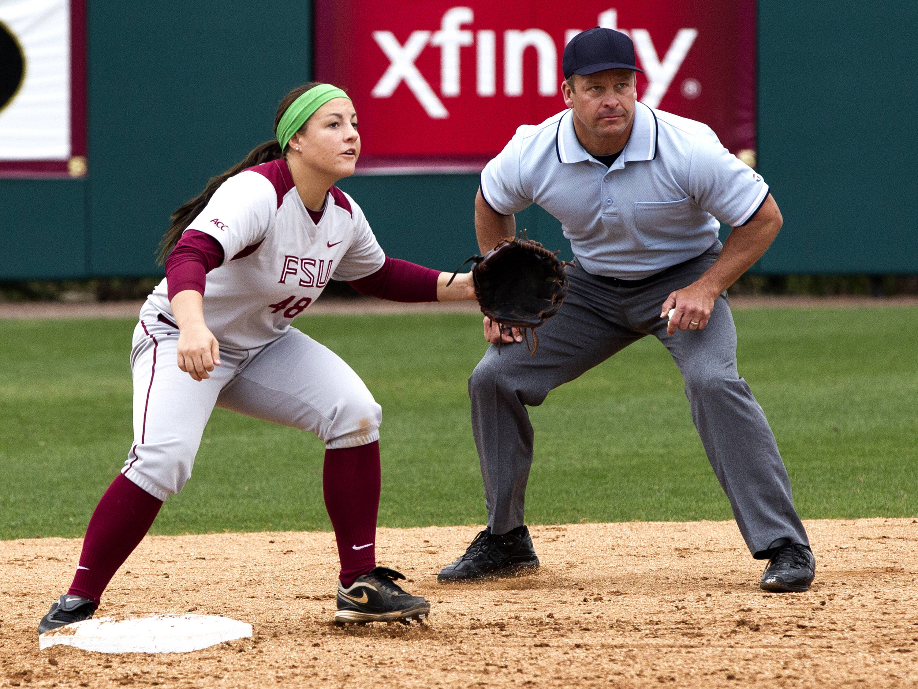 Kaitlin Allen (48), FSU vs Minnesota, 03/17/13. (Photo by Steve Musco)