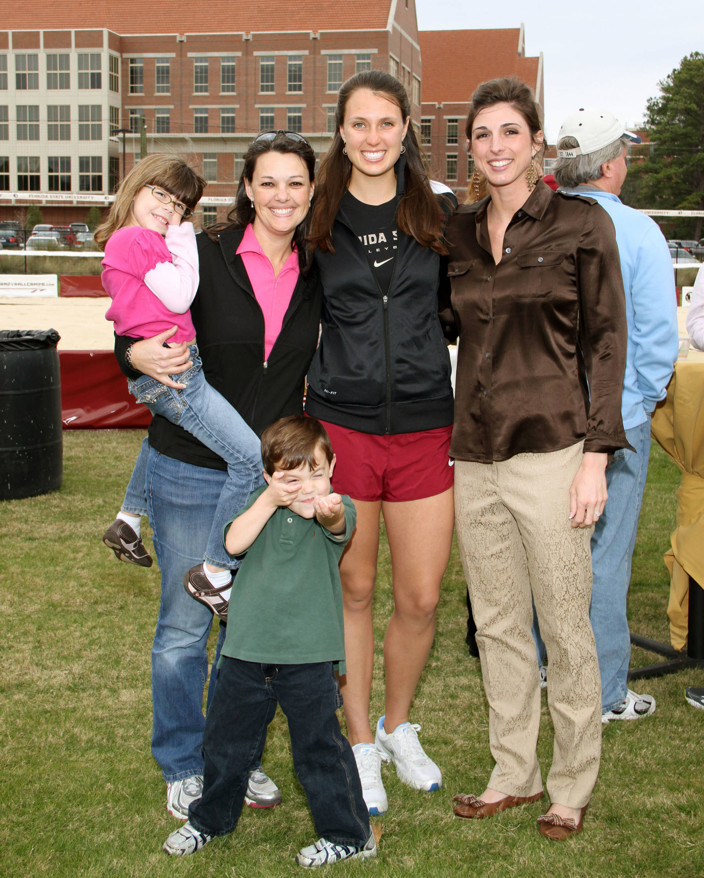 Sand Volleyball Ribbon Cutting Ceremony on January 20, 2012 on the FSU Campus