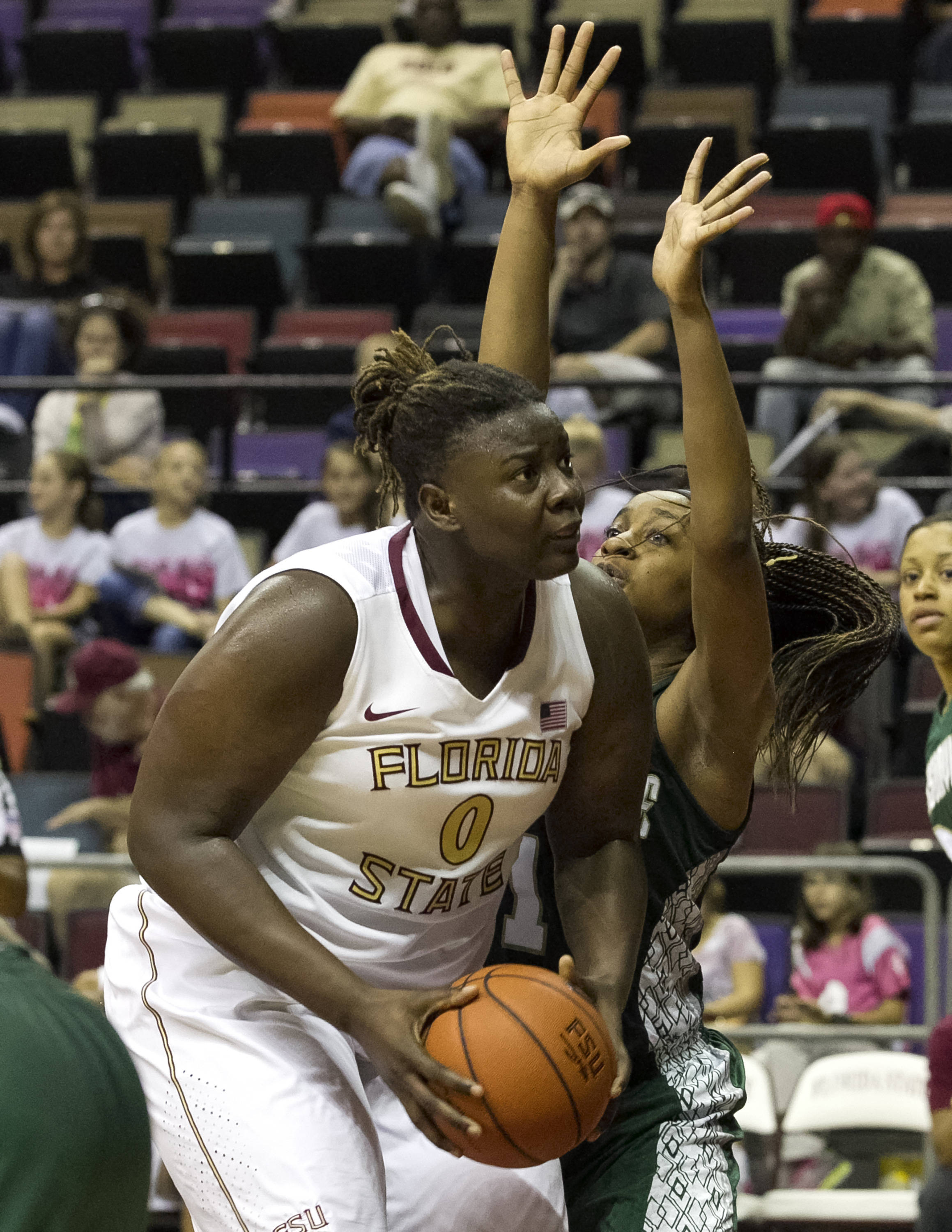 Kai James (0),  getting set to put up a shot, FSU vs Jacksonville, 12-08-13,  (Photo by Steve Musco)