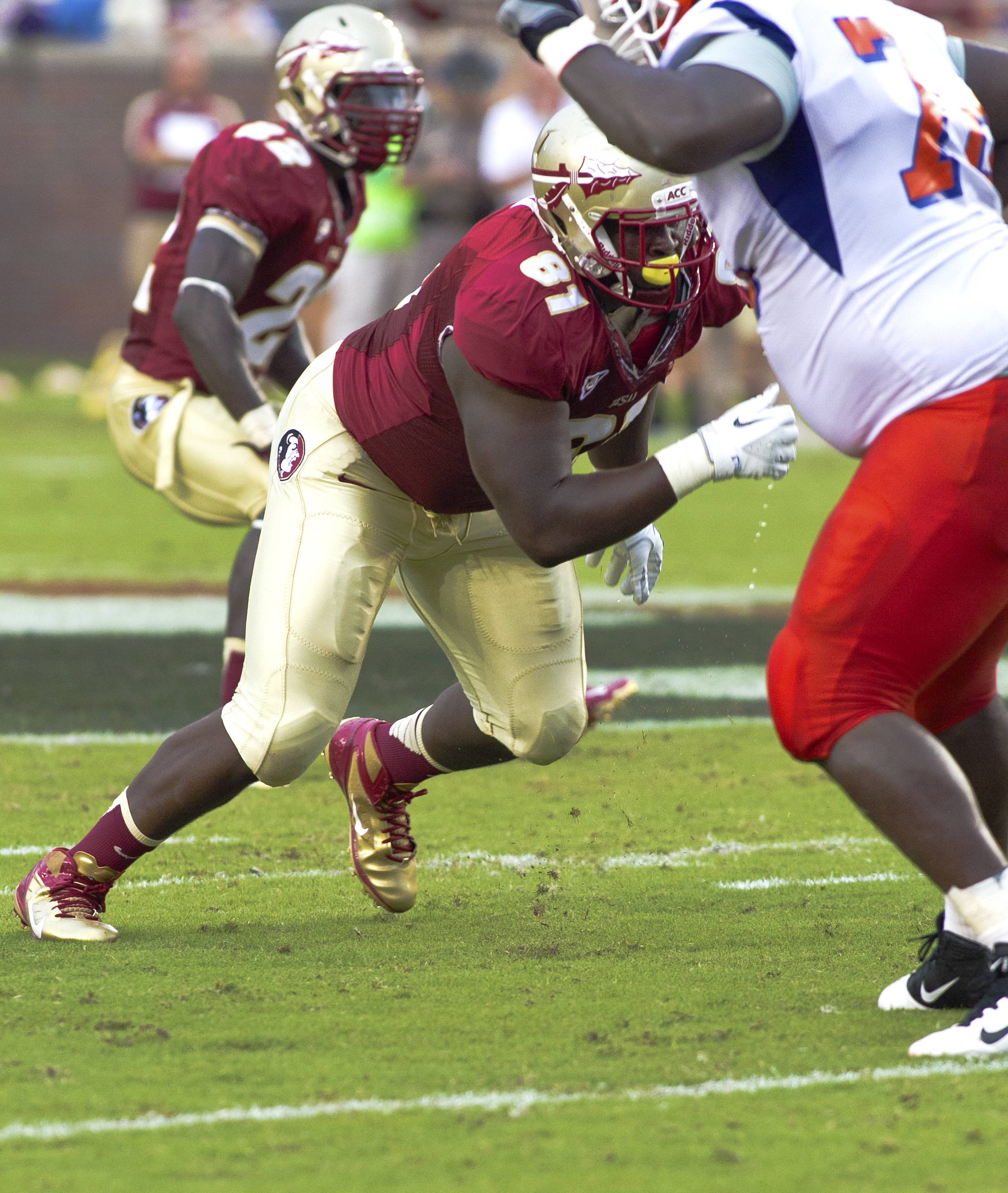 Eddie Goldman (81),  FSU vs Savannah State, 9/8/12 (Photo by Steve Musco)