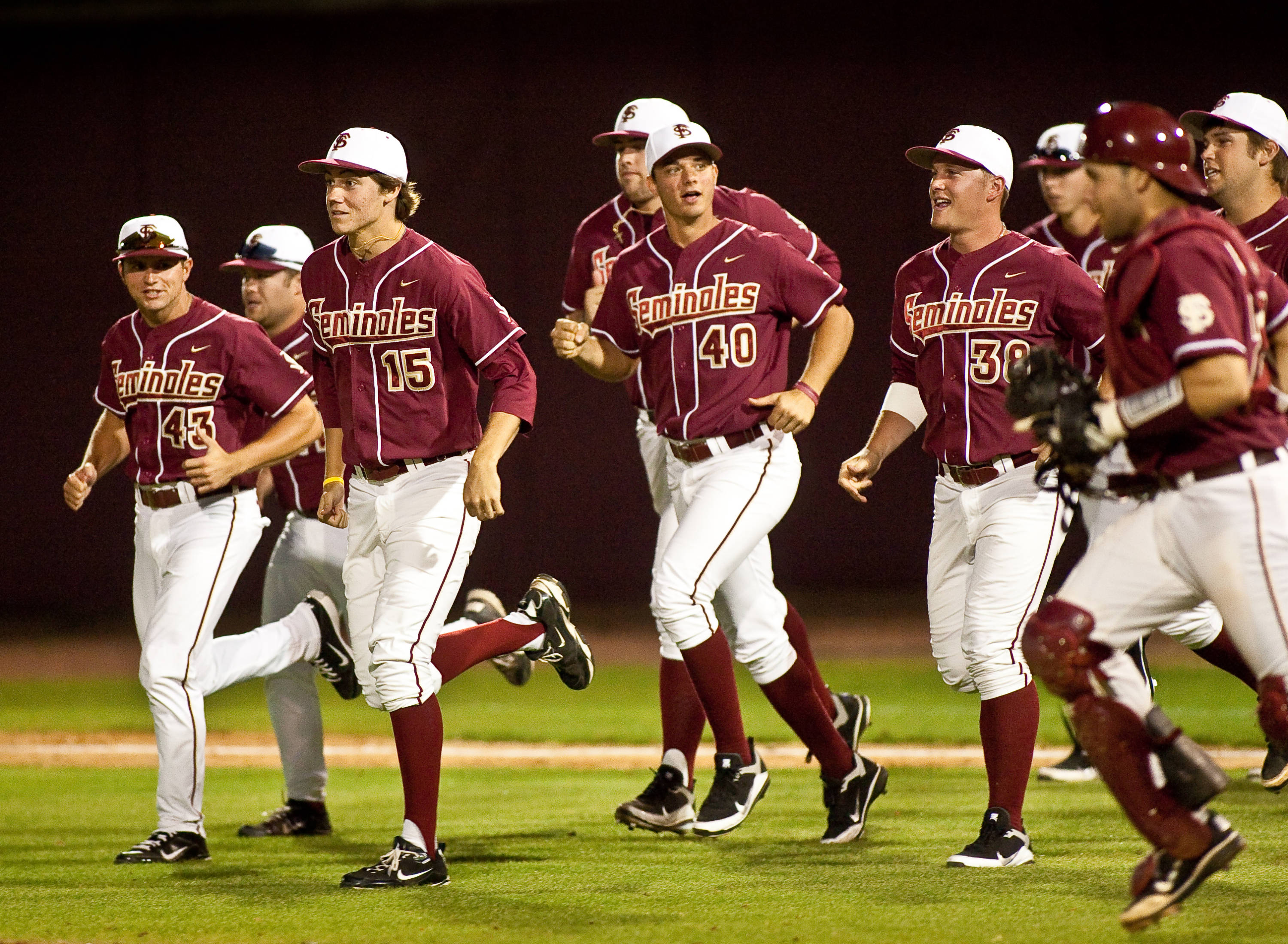 Seminoles are jubilant after defeating the gators for the third time in 2011