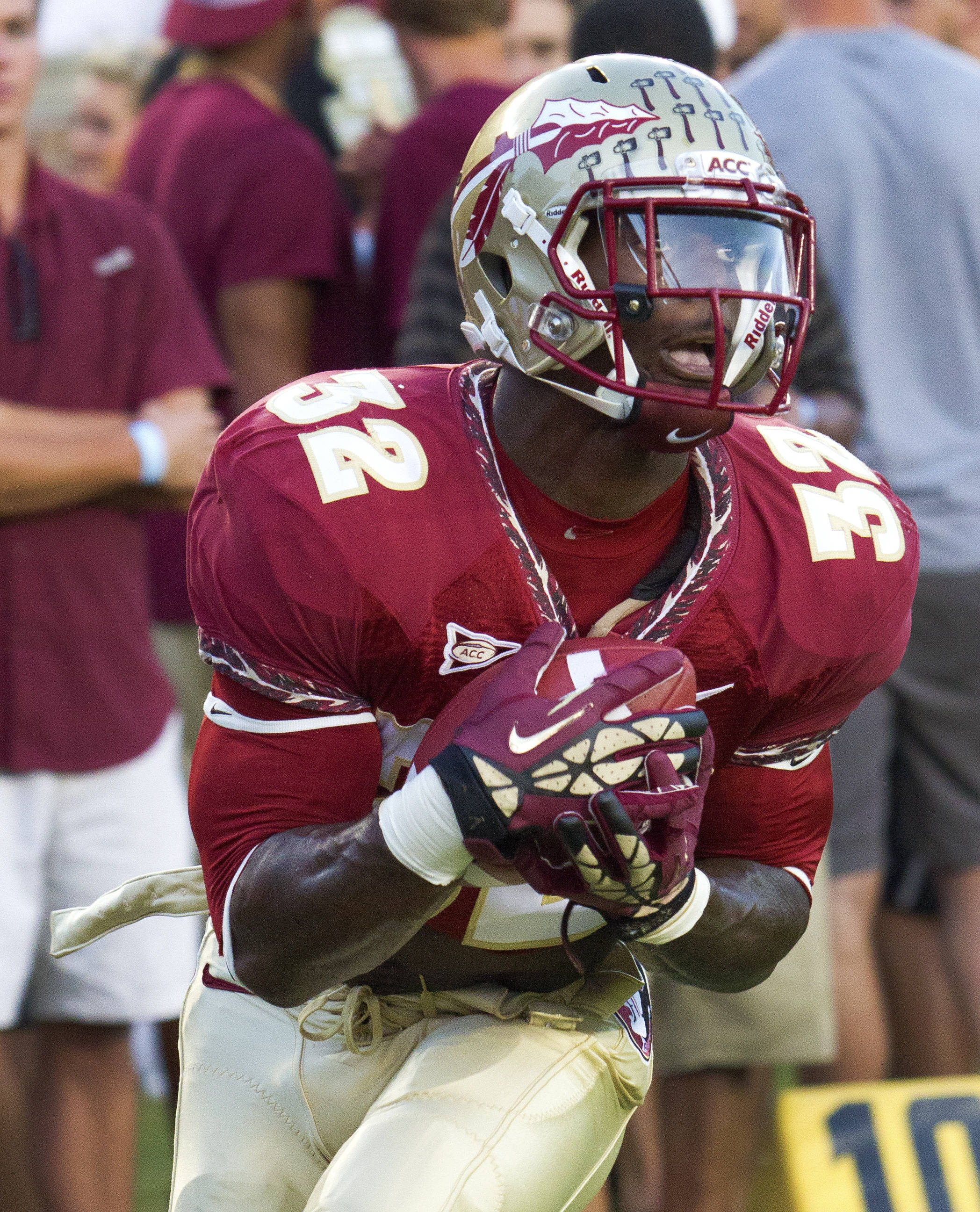 James Wilder Jr. (32), FSU vs Clemson, 9/22/12 (Photo by Steve Musco)