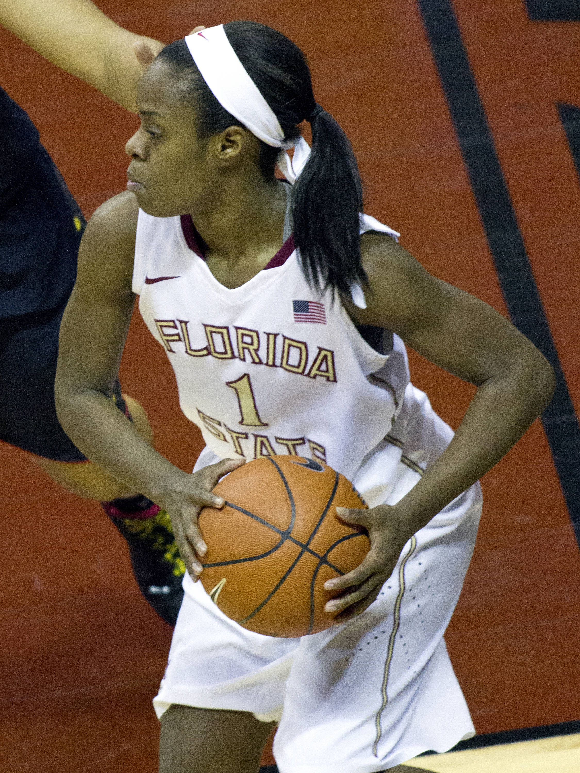 Morgan Toles (1), FSU vs Maryland, 02/28/13. (Photo by Steve Musco)