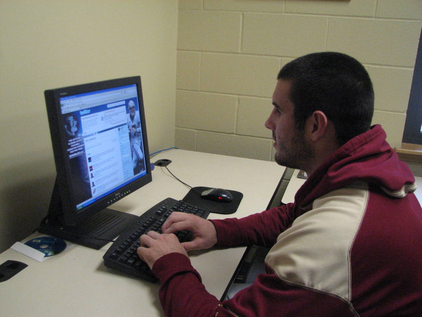 Interning in the Sports Information Office.