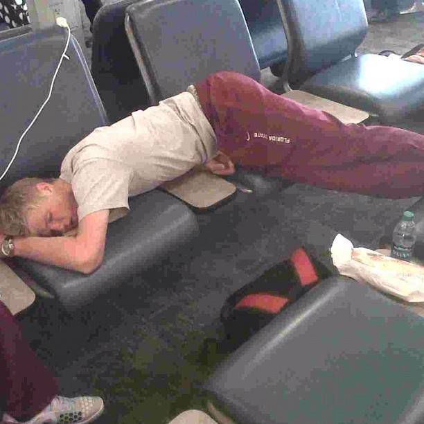 From Andres Bucaro - Sleepy time in Atlanta for the freshman, Ben-JAMMING Lock. Will keep you posted if he wakes up with lower back pain.