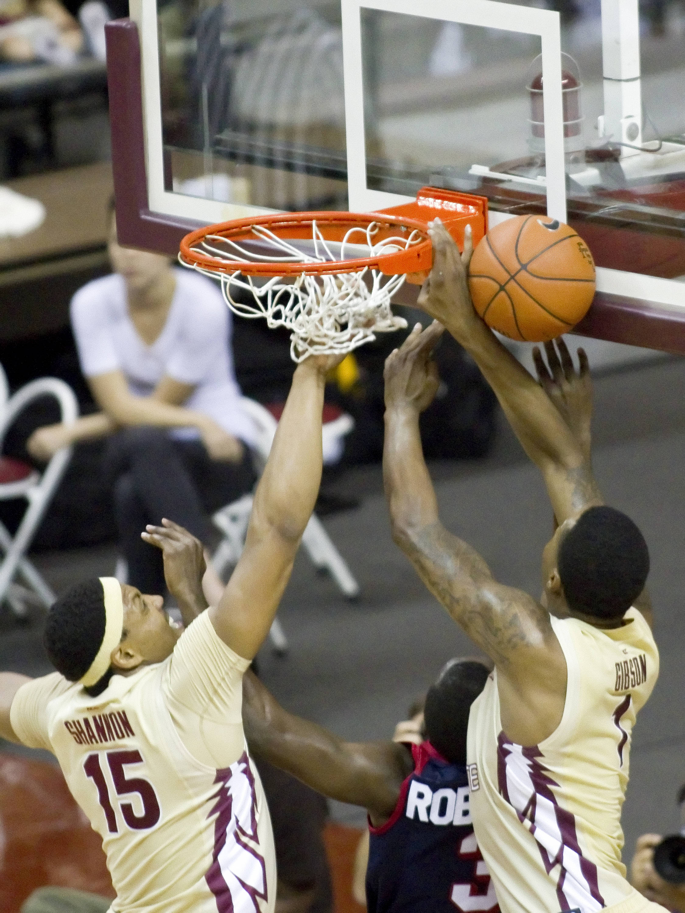Xavier Gibson (1), Terrance Shannon (15), FSU vs So. Alabama, 11/20/2011