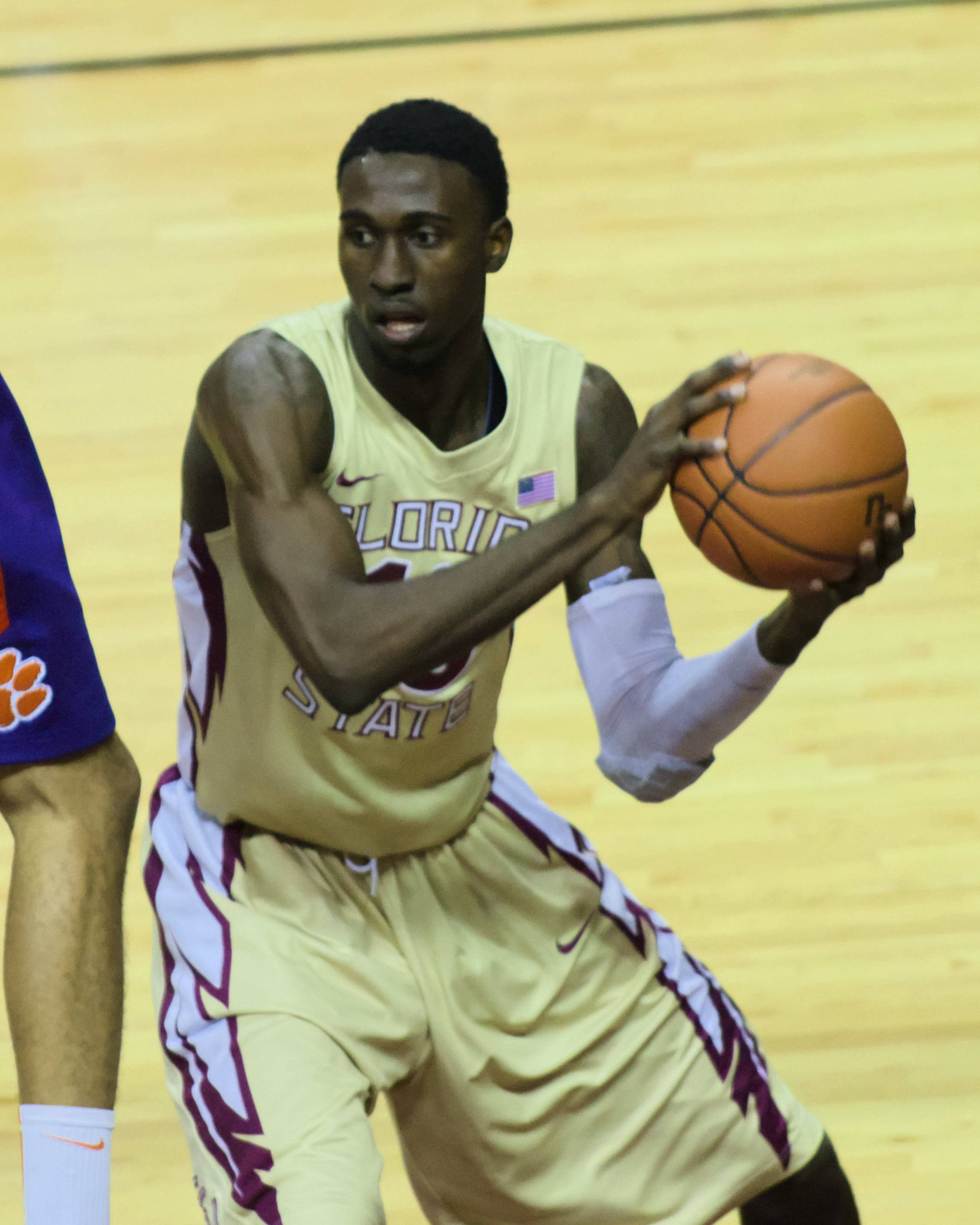 Okaro White (10), FSU vs Clemson, 01/24/13. (Photo by Steve Musco)