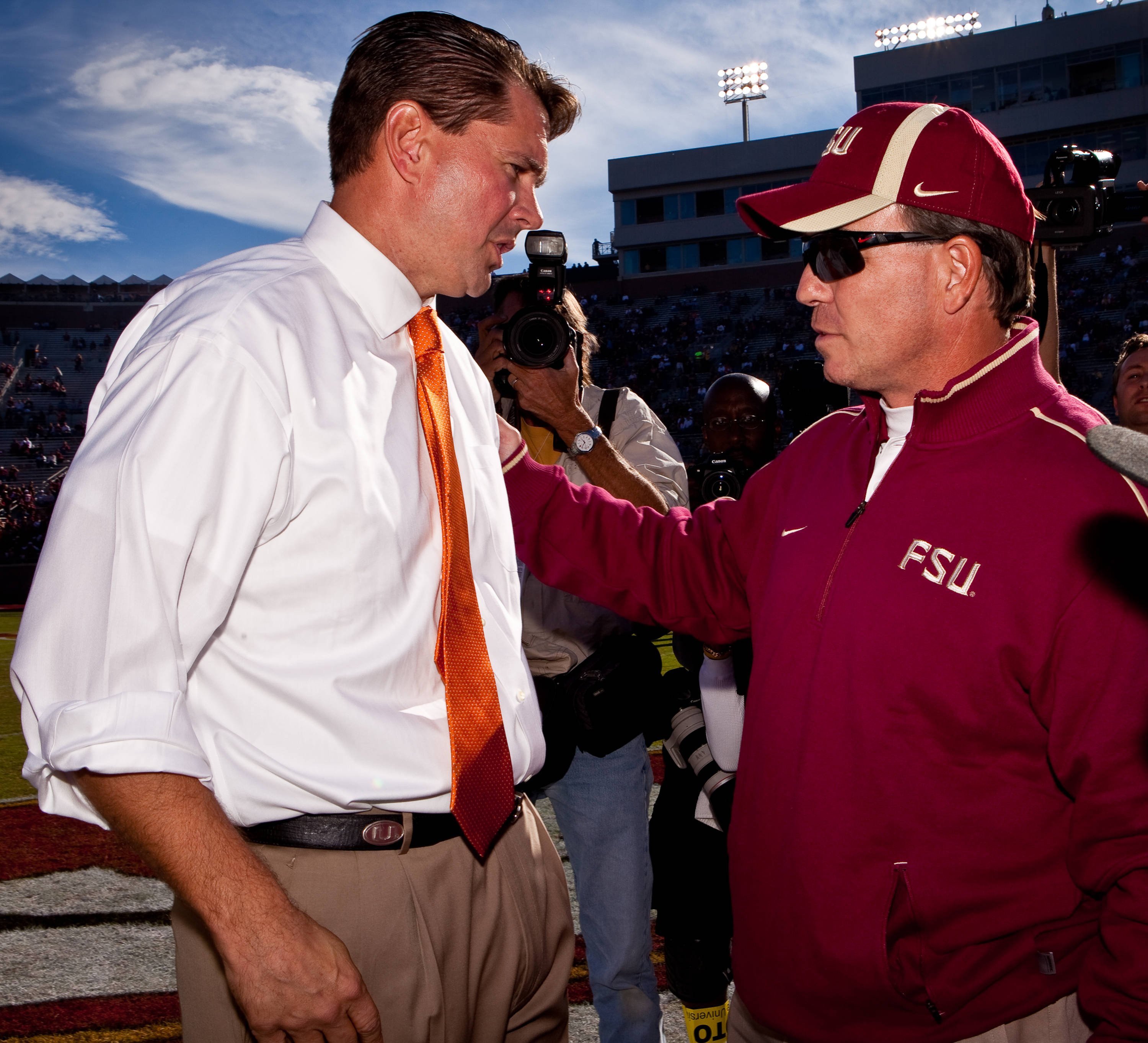 Jimbo Fisher and Al Golden