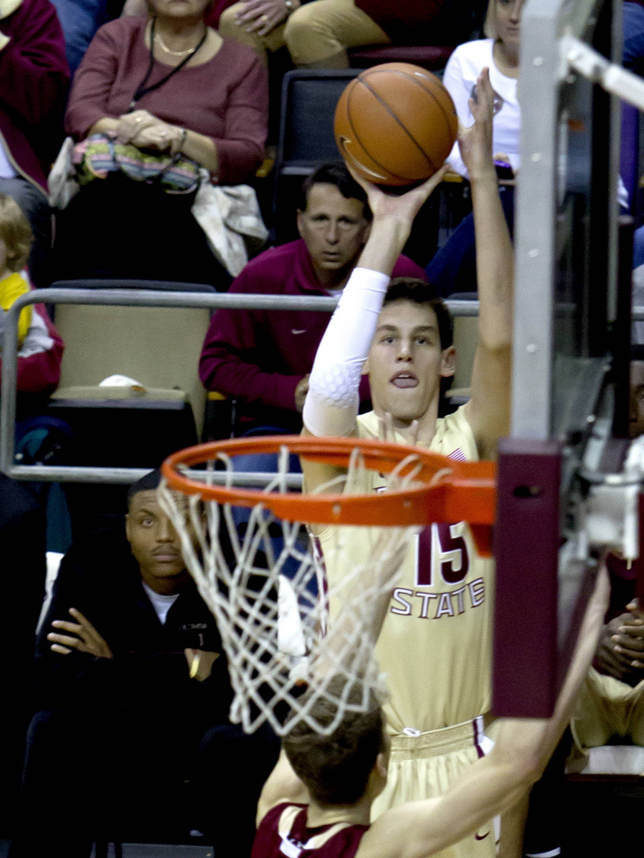 Boris Bojanovsky (15), FSU vs BC, 02/16/13. (Photo by Steve Musco)