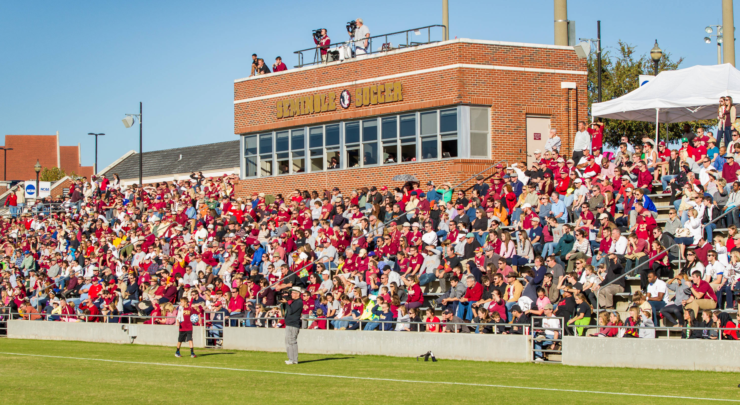 A full house at the Seminole Soccer Complex supported the Noles.