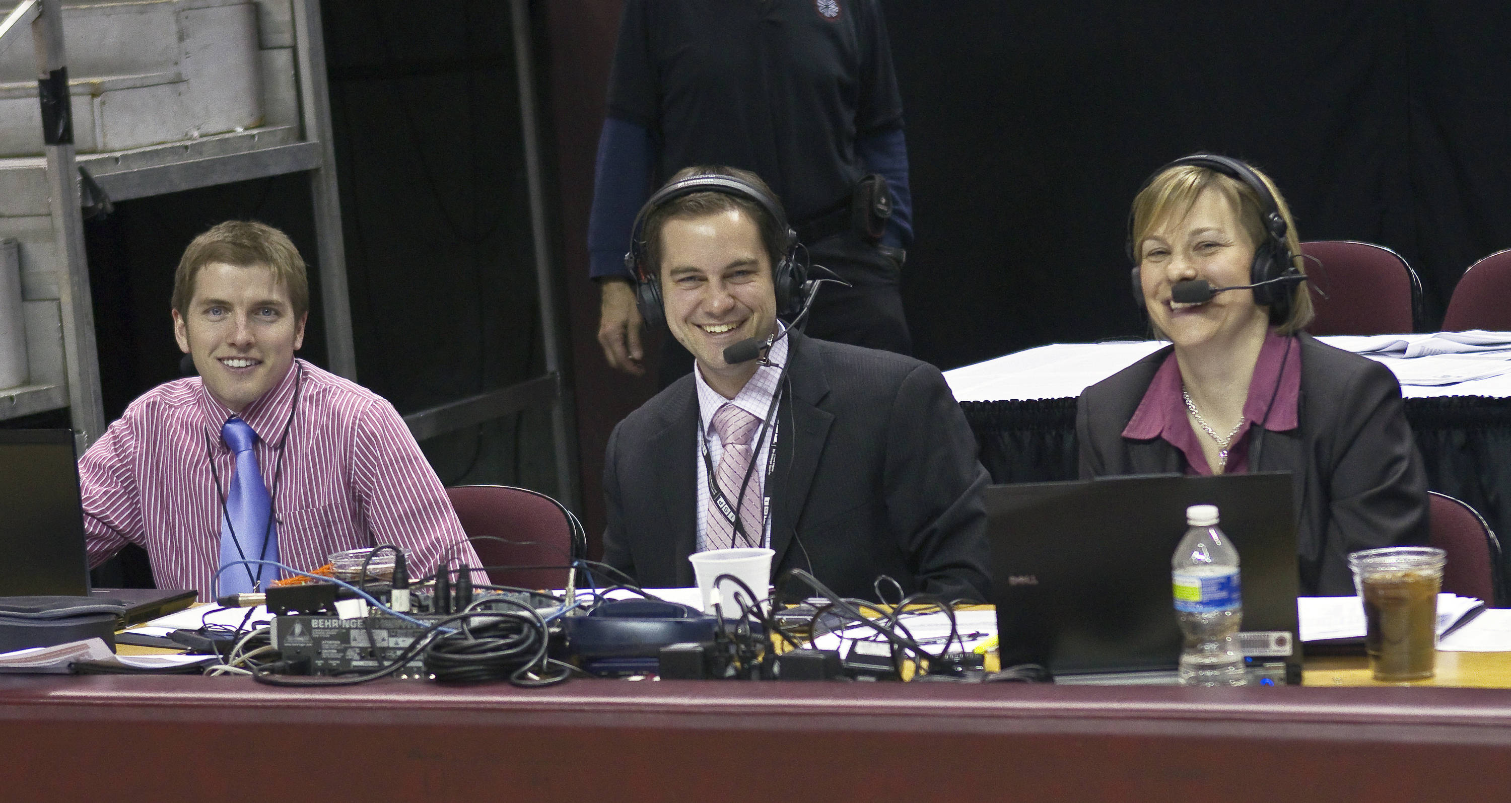 FSU vs Georgia Tech- 02//11/11 - FSU Women's Basketball Sports Information Director Brandon Mellor, FSU's Director of Digital Media Ryan Pensy, FSU Director of Women's Basketball Operations Melissa Bruner