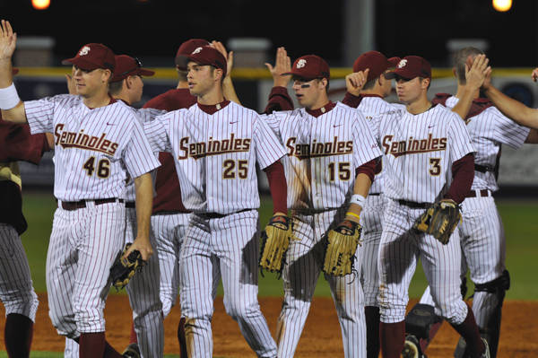 The Seminole celebrate their first regular season series victory over the Gators since 2005.