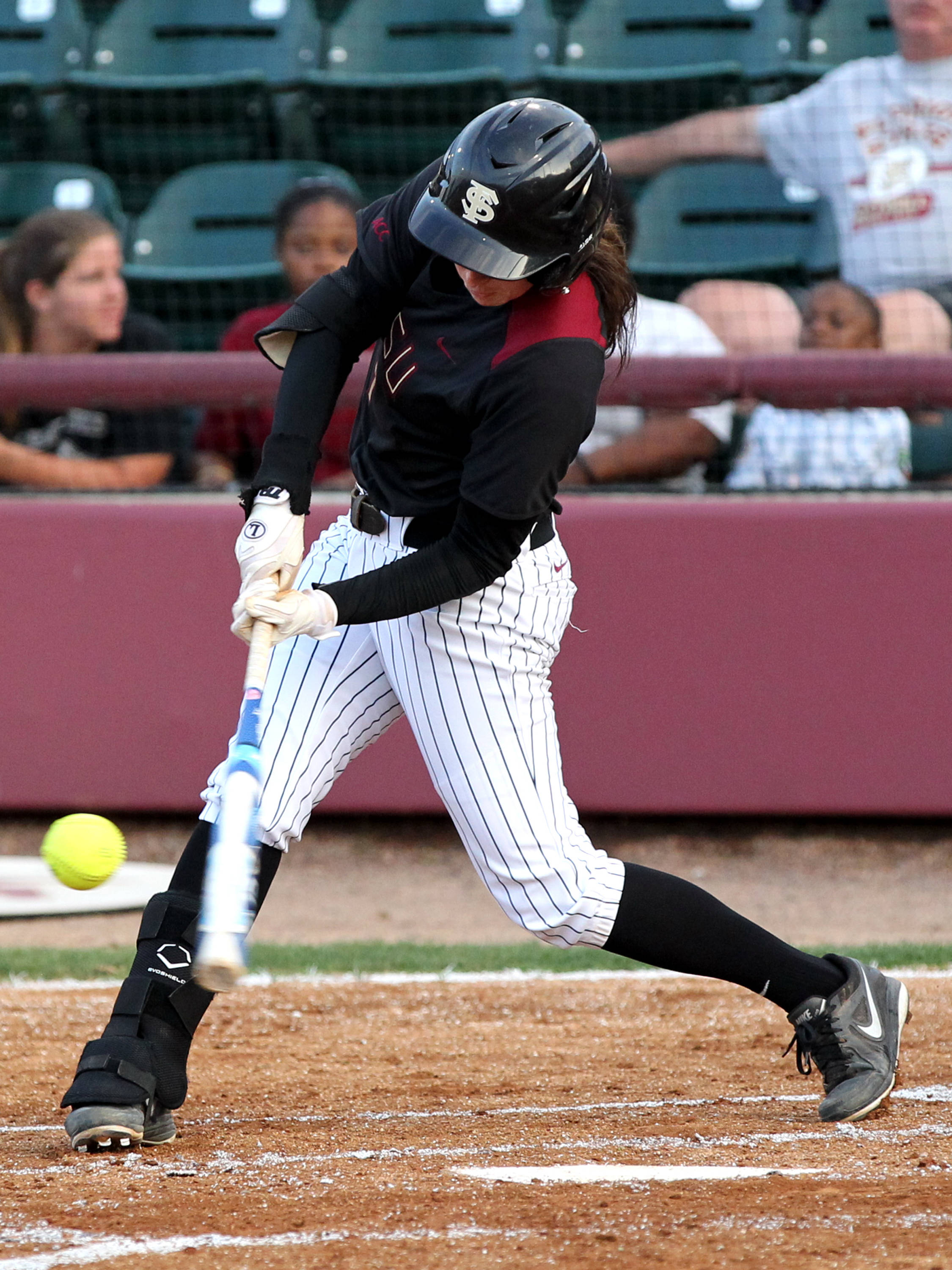 Maddie O' Brien, FSU vs Virginia, 04/13/13 . (Photo by Steve Musco)