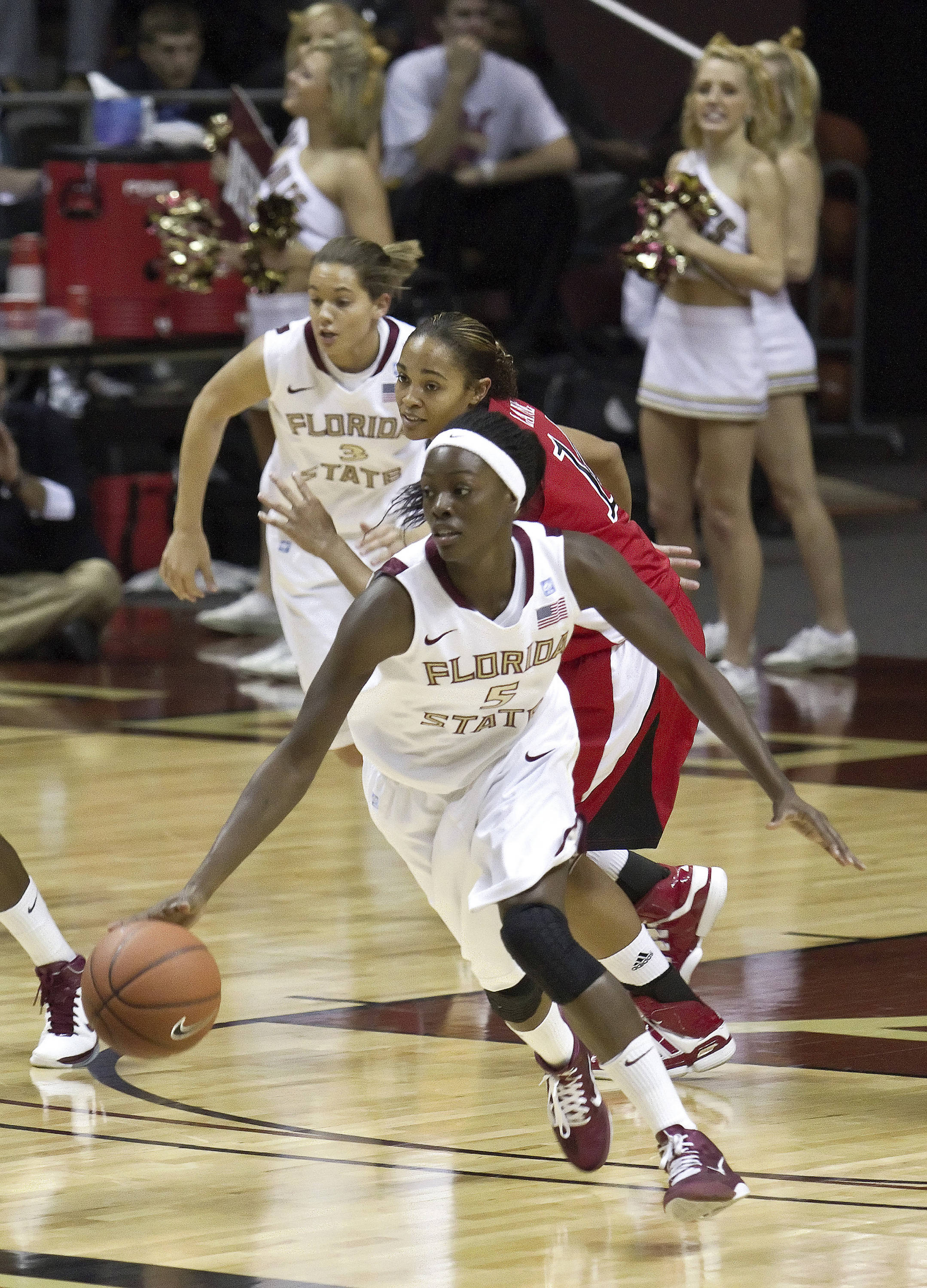 FSU vs Jacksonville State - 12/12/10 - Christian Hunnicutt (5), Alexa Deluzio (3)#$%^Photo by Steve Musco