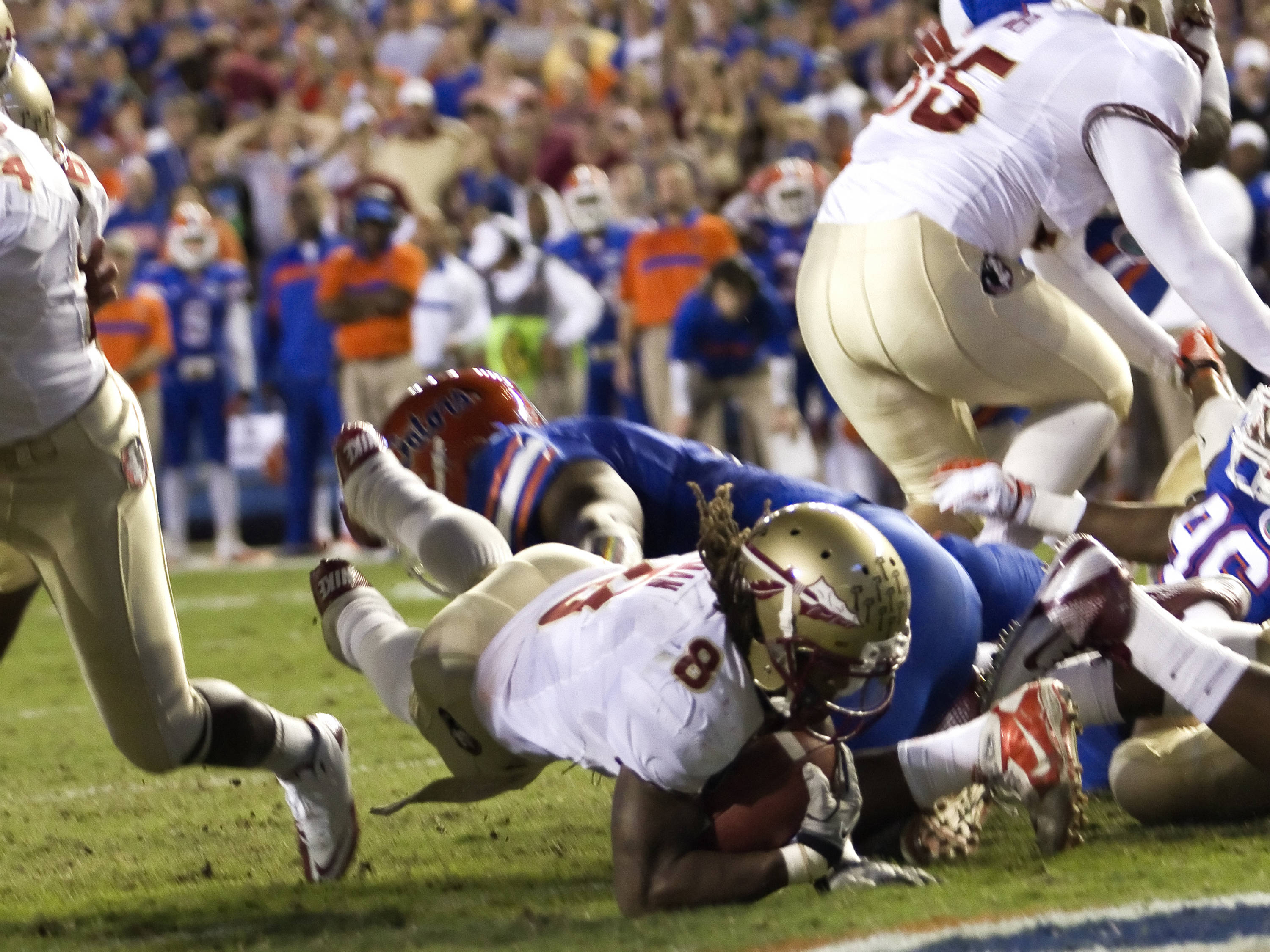 Devonta Freeman (8), scoring, FSU vs Florida, 11/26/2011