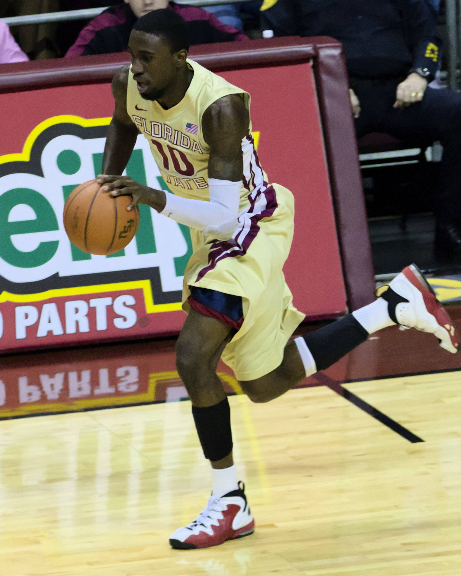 Okaro White (10), FSU vs Virginia, 03/07/13. (Photo by Steve Musco)