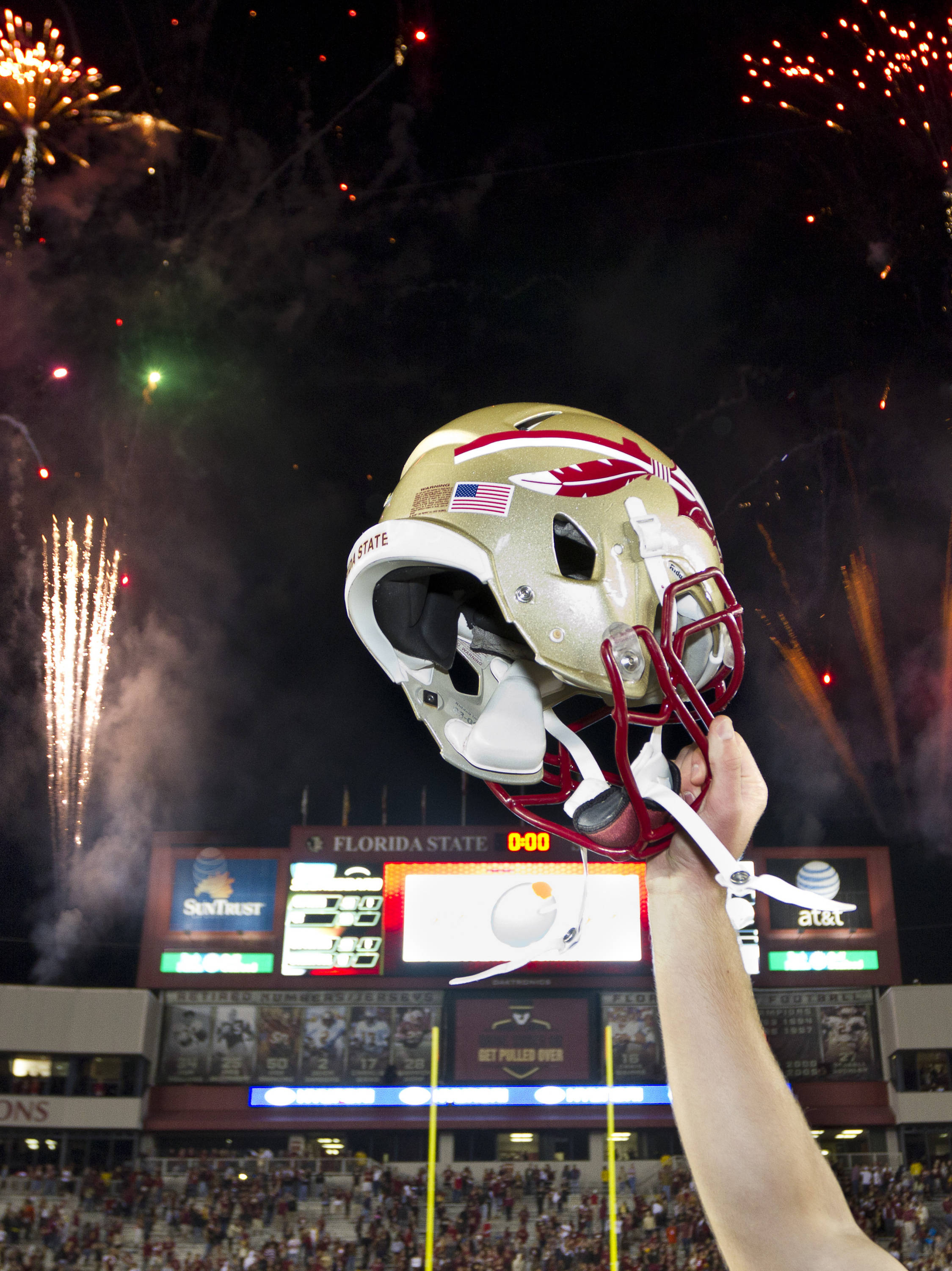 FSU players celebrate after the football game against Miami on November 12, 2011. (photo-illustration)