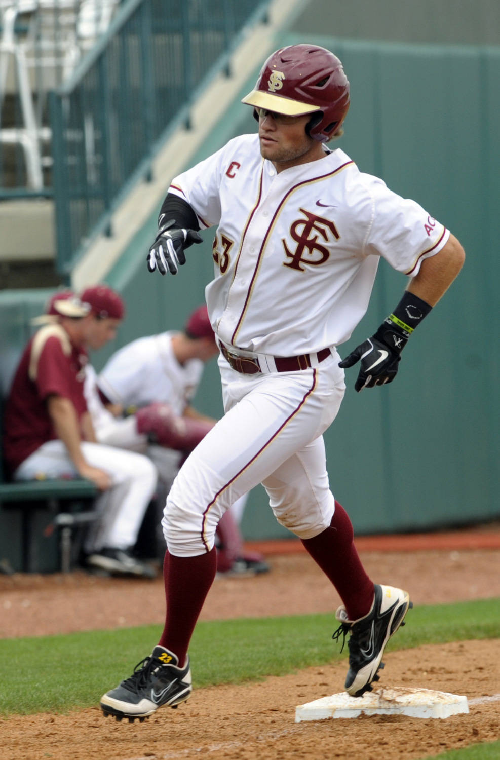 Florida State's James Ramsey (23) rounds third base after his home run against Georgia Tech during the ACC Baseball Championship May 23, 2012 in Greensboro, N.C. (Photo by Sara D. Davis/theACC.com)