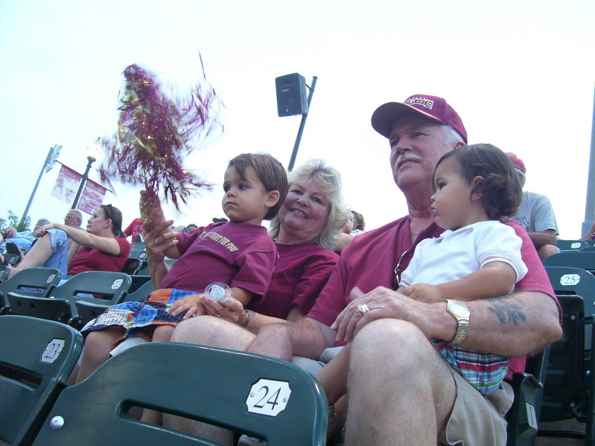 Fans of all ages enjoy ACC softball.