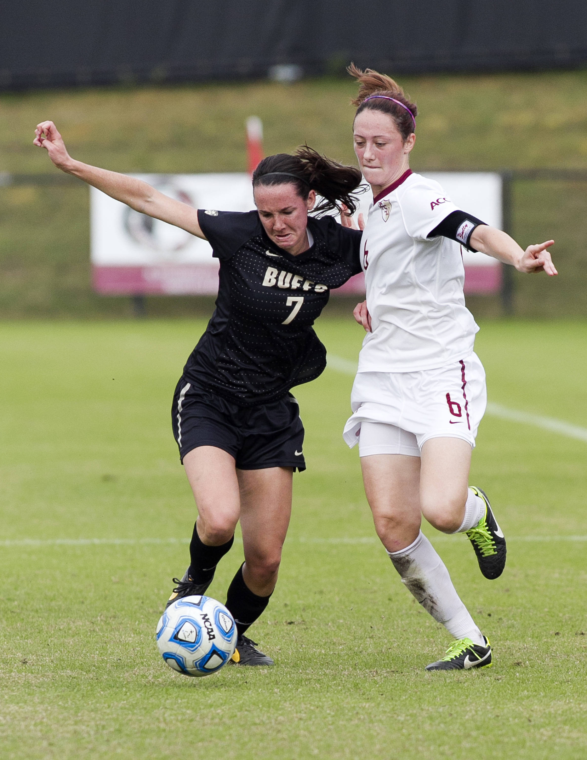 Megan Campbell (6), FSU vs Colorado, 11-23-13, 3rd round NCAA Tournament (Photo by Steve Musco)