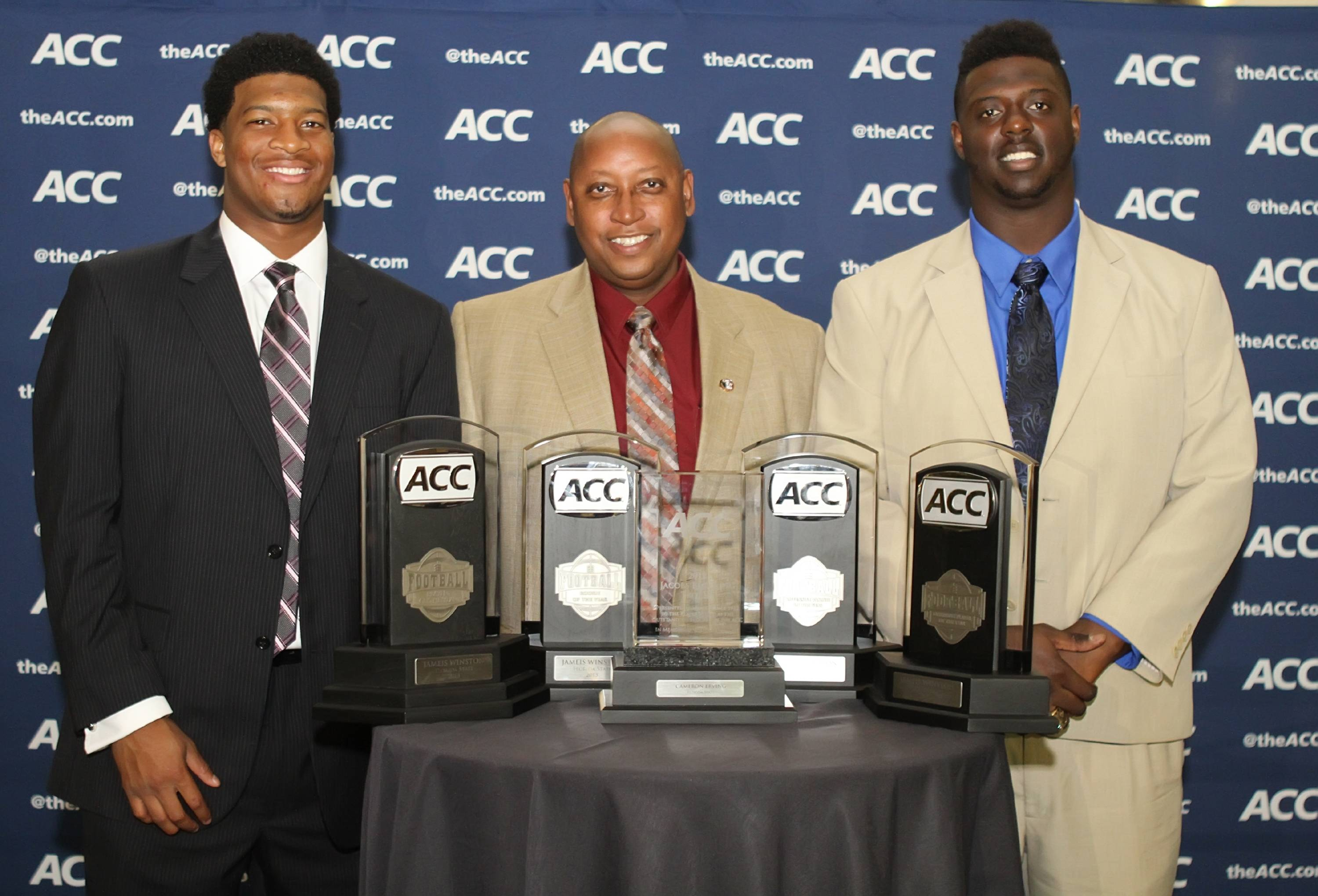 Jameis Winston, Stan Wilcox and Cam Erving at the ACC Night of Legends