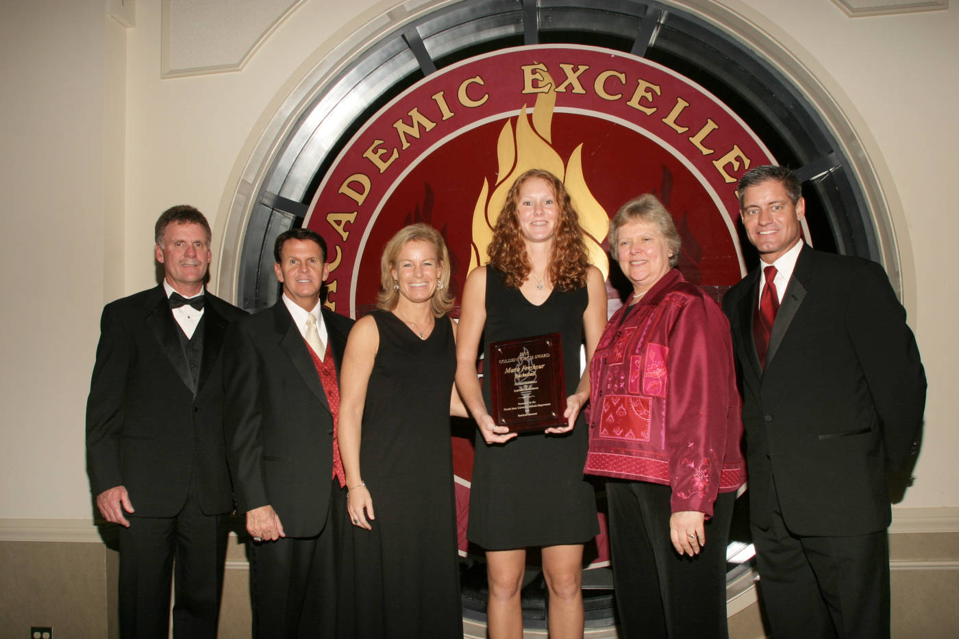 Women's Basketball's 2006-07 Golden Torch Award winner, Mara Freshour.