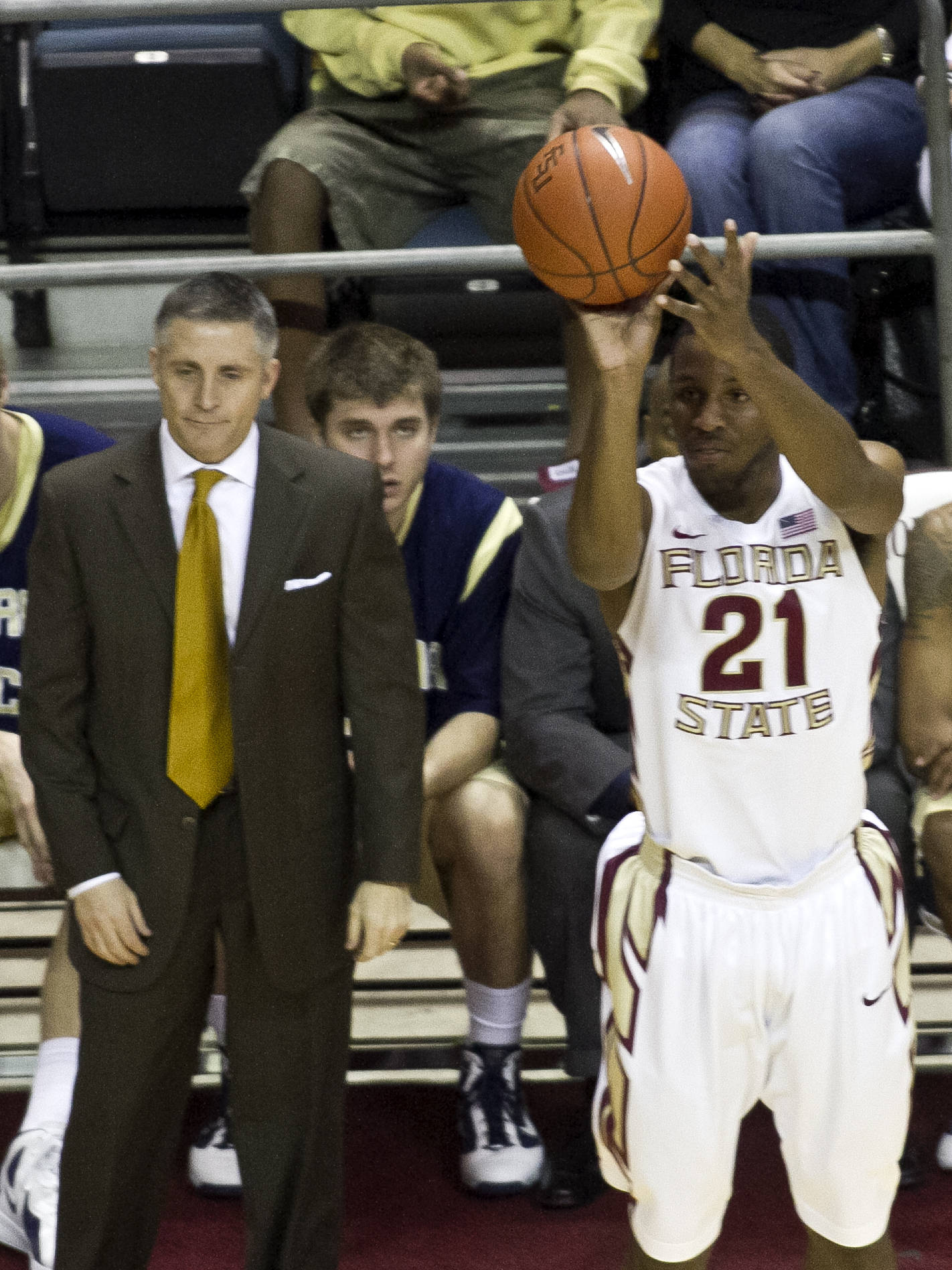 Michael Snaer (21), FSU vs GT,  02/01/2012