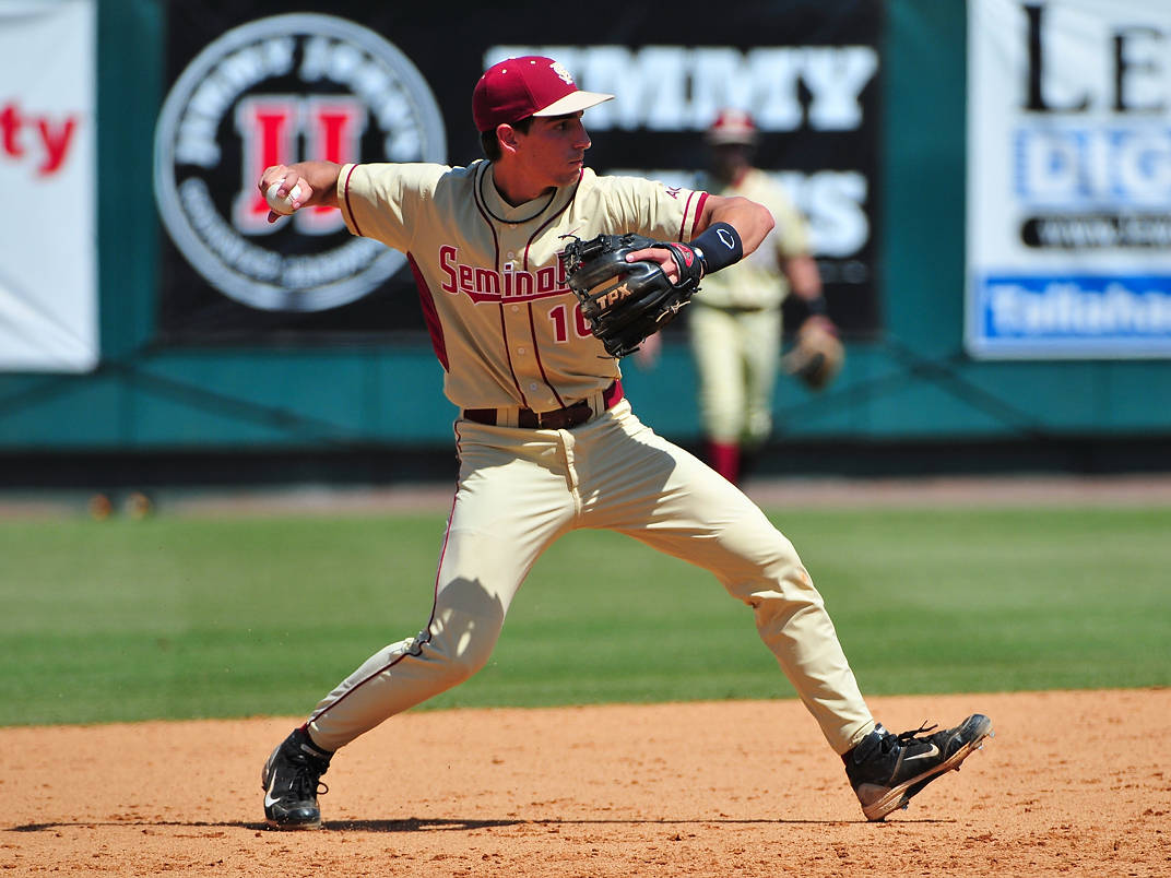 Shortstop Justin Gonzalez had a solid day in the field and a pair of hits for the Seminoles.