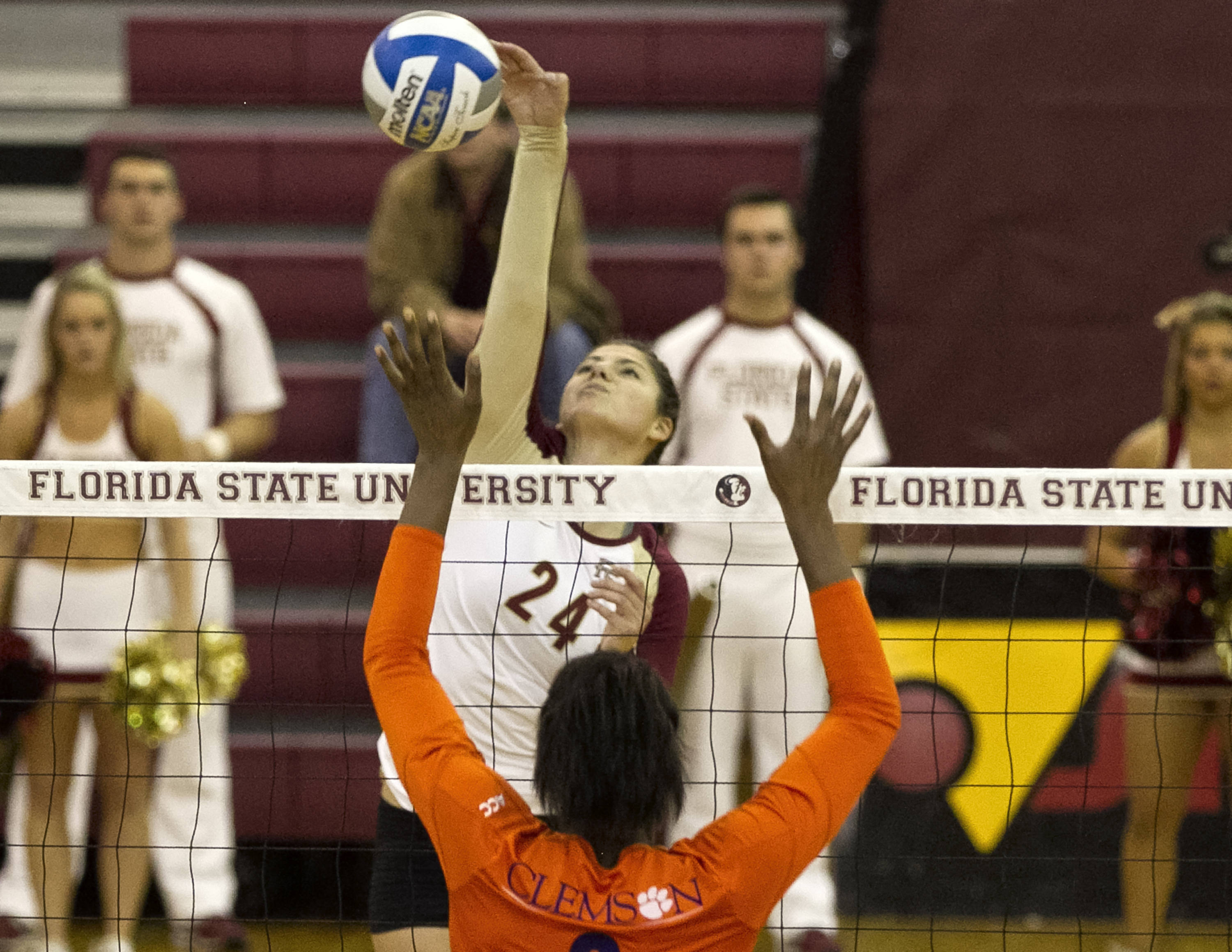 Olivera Medic (24), FSU vs Clemson, 11-27-13,  (Photo by Steve Musco)