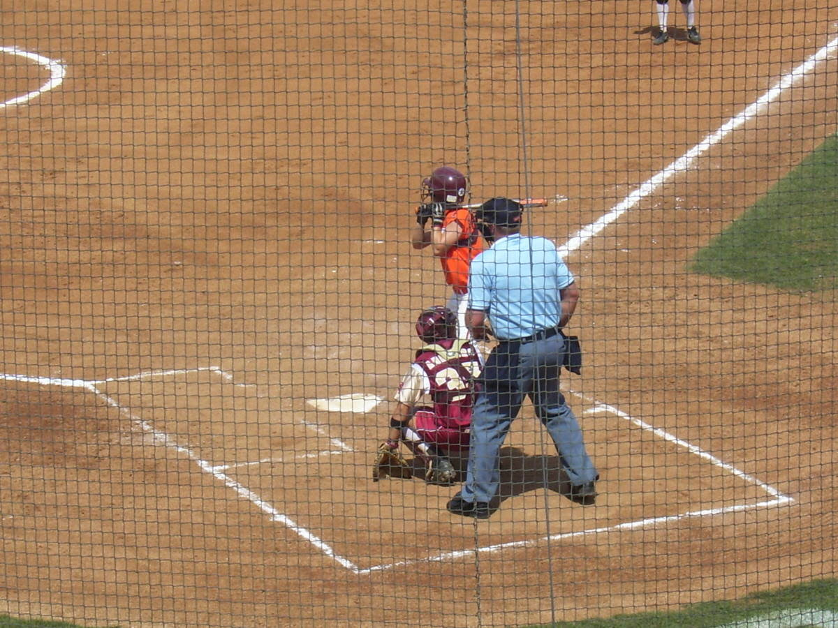 The Hokies at the plate.
