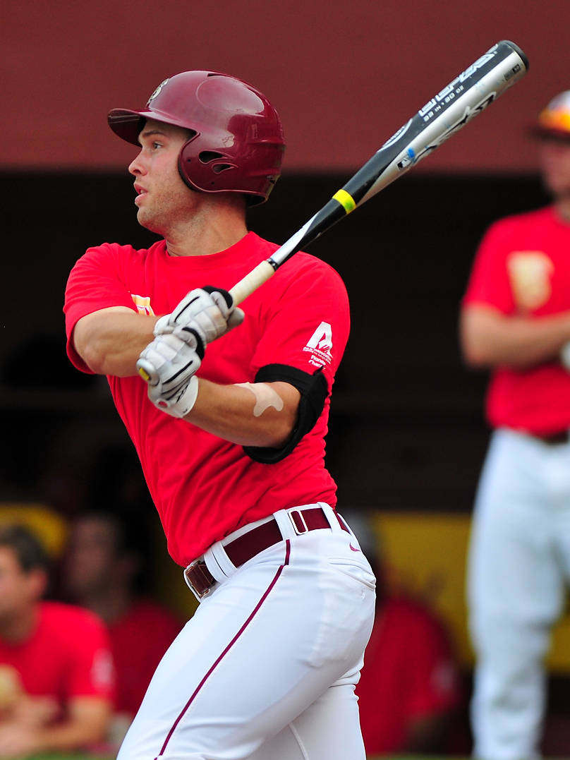Mike McGee contributed three hits to FSU's 14-hit attack against Florida Gulf Coast.