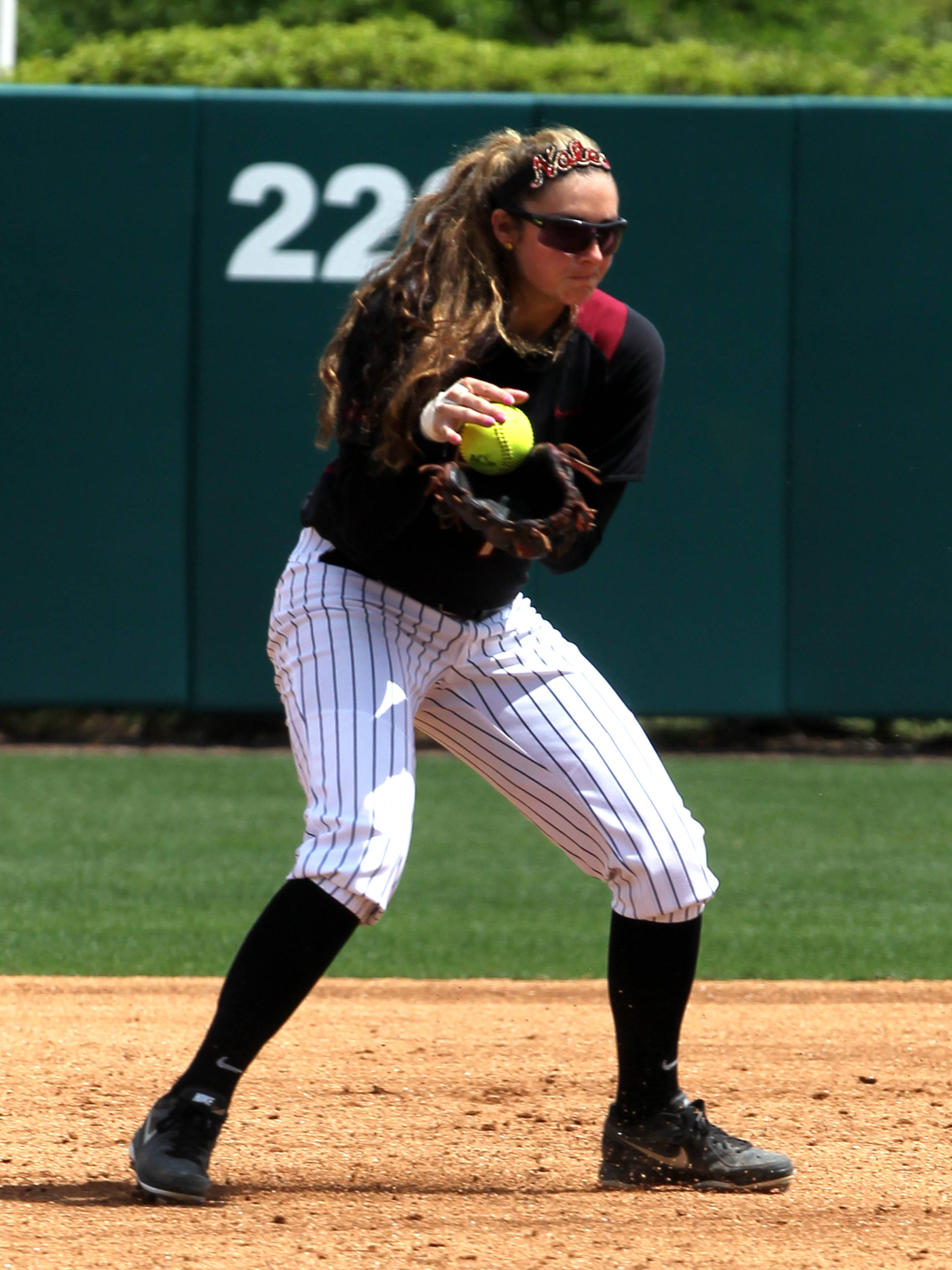 Maddie O' Brien (7), FSU vs BC, 04/07/13 . (Photo by Steve Musco)