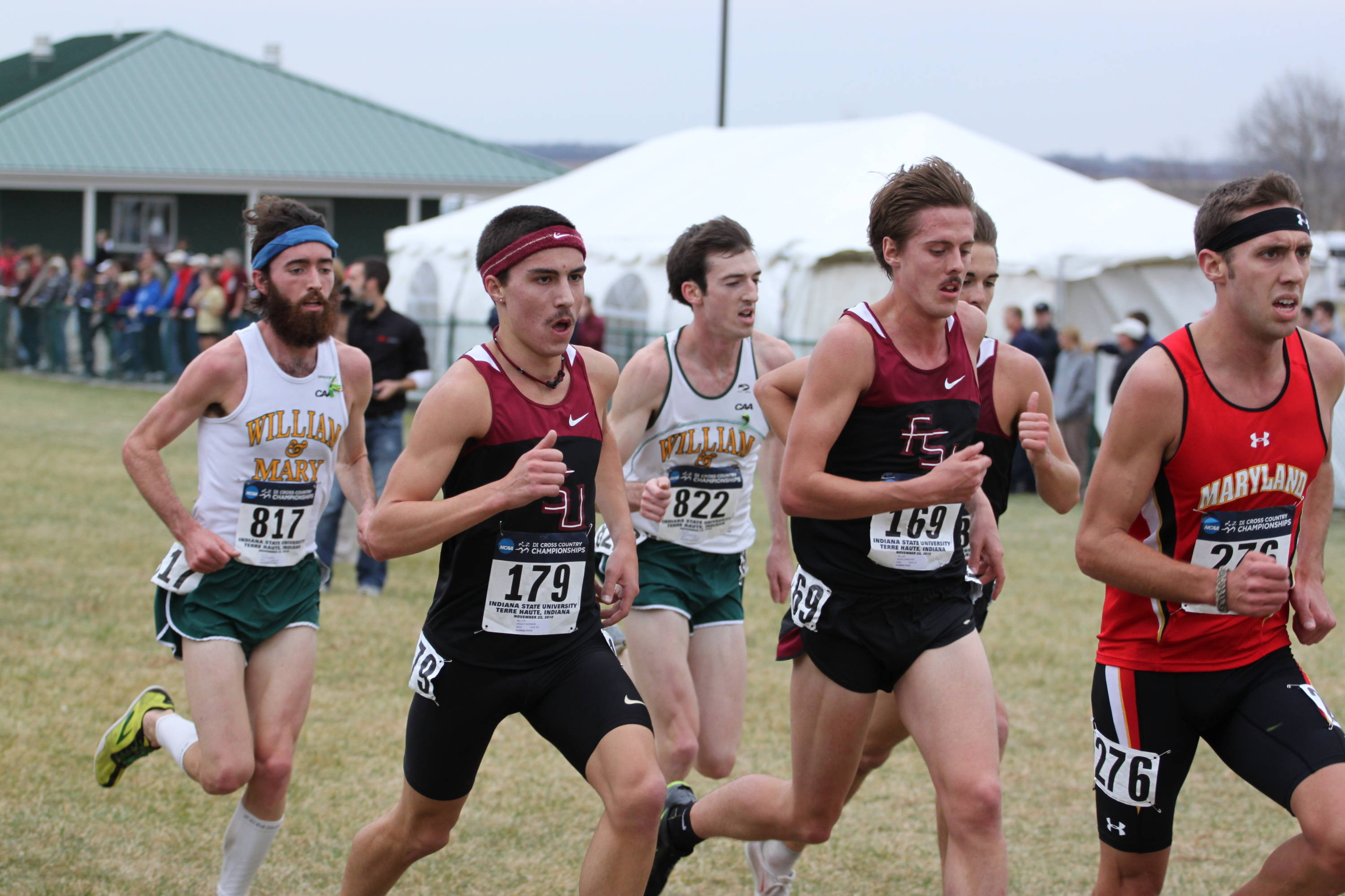 Wes Rickman and David Forrester pass the midway point side-by-side and picked it up from there as the FSU men posted their best finish ever.