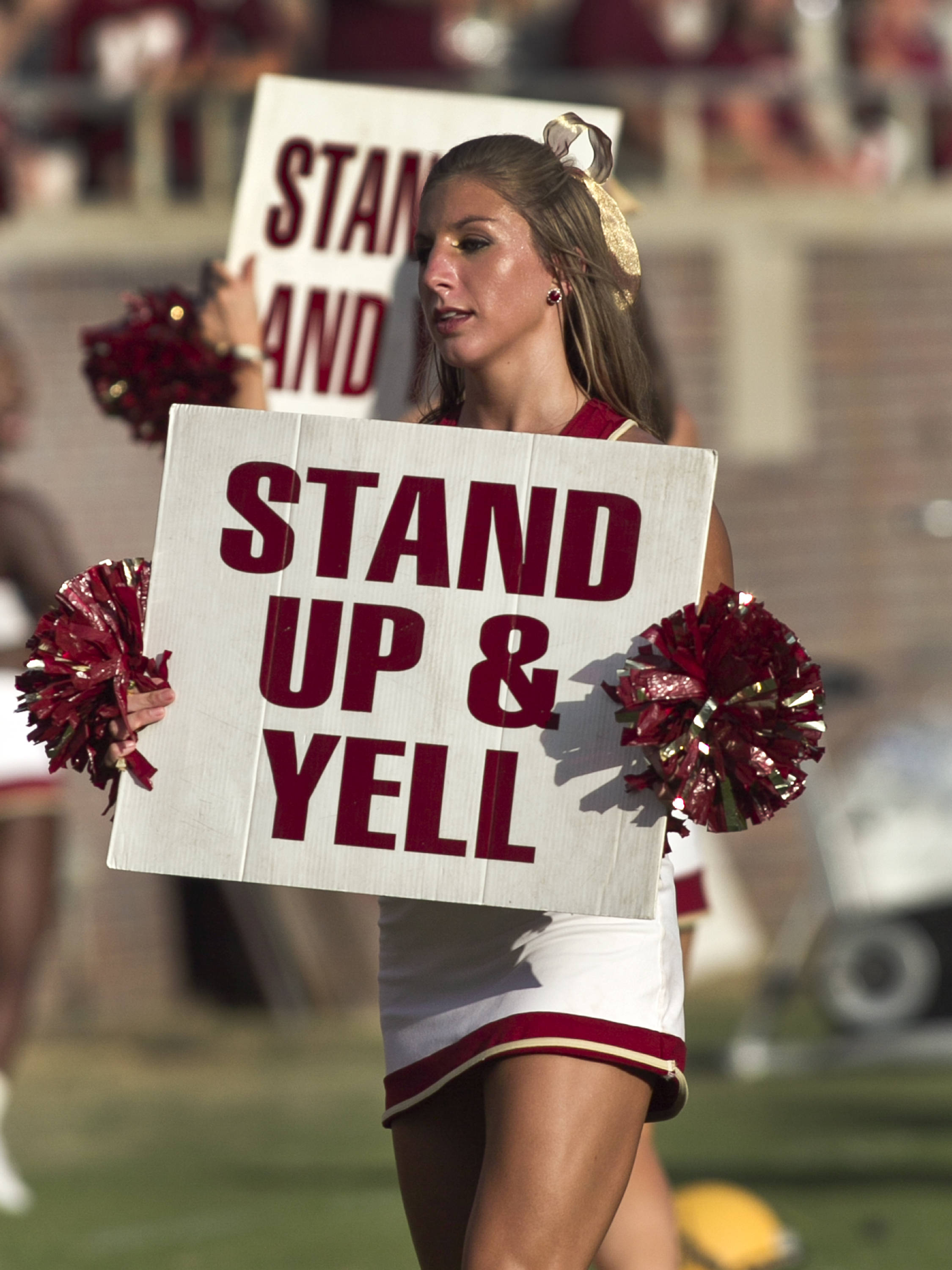 FSU Cheerleader,  FSU vs Murray State, 9/1/12 (Steve Musco)